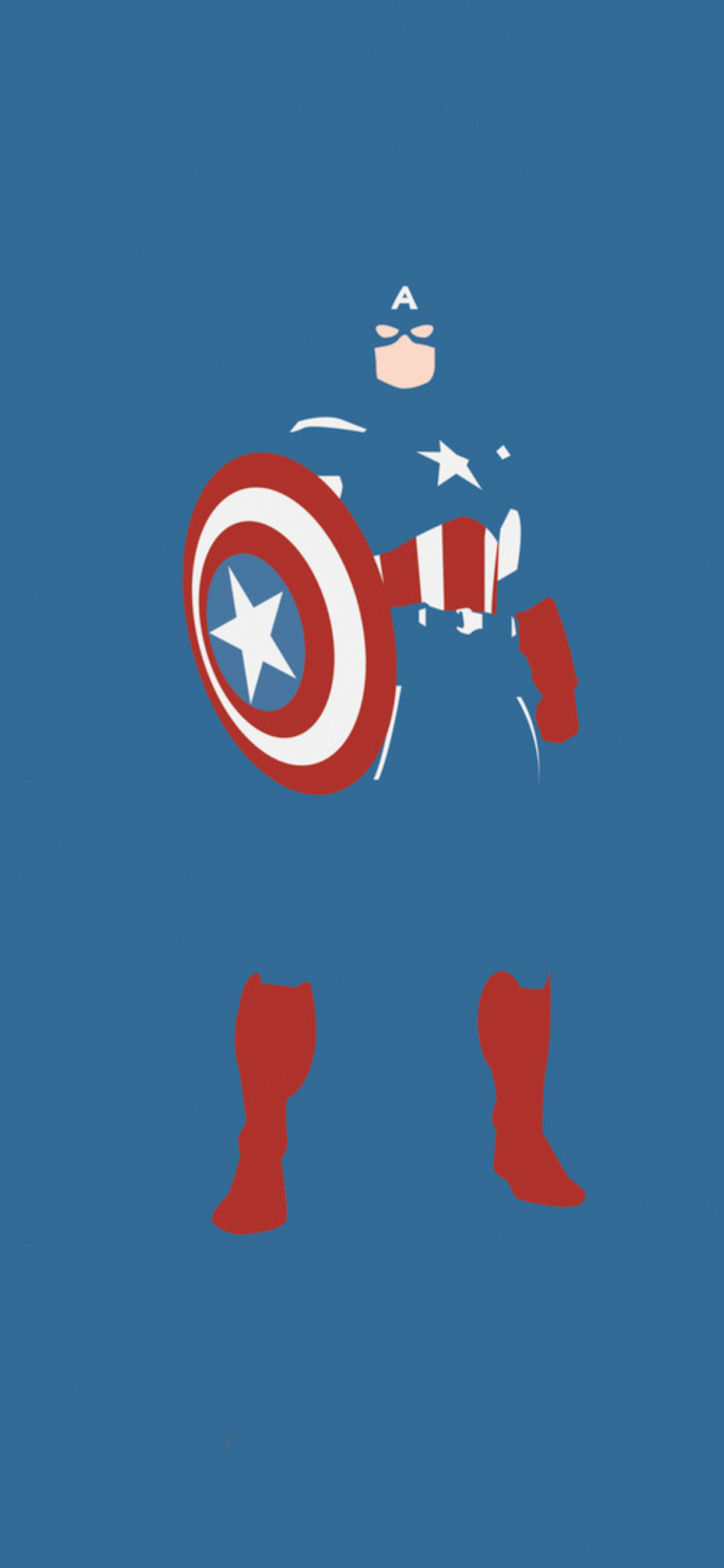 1242x2688 Captain America Marvel Comics Minimalism Iphone Xs Max Hd
