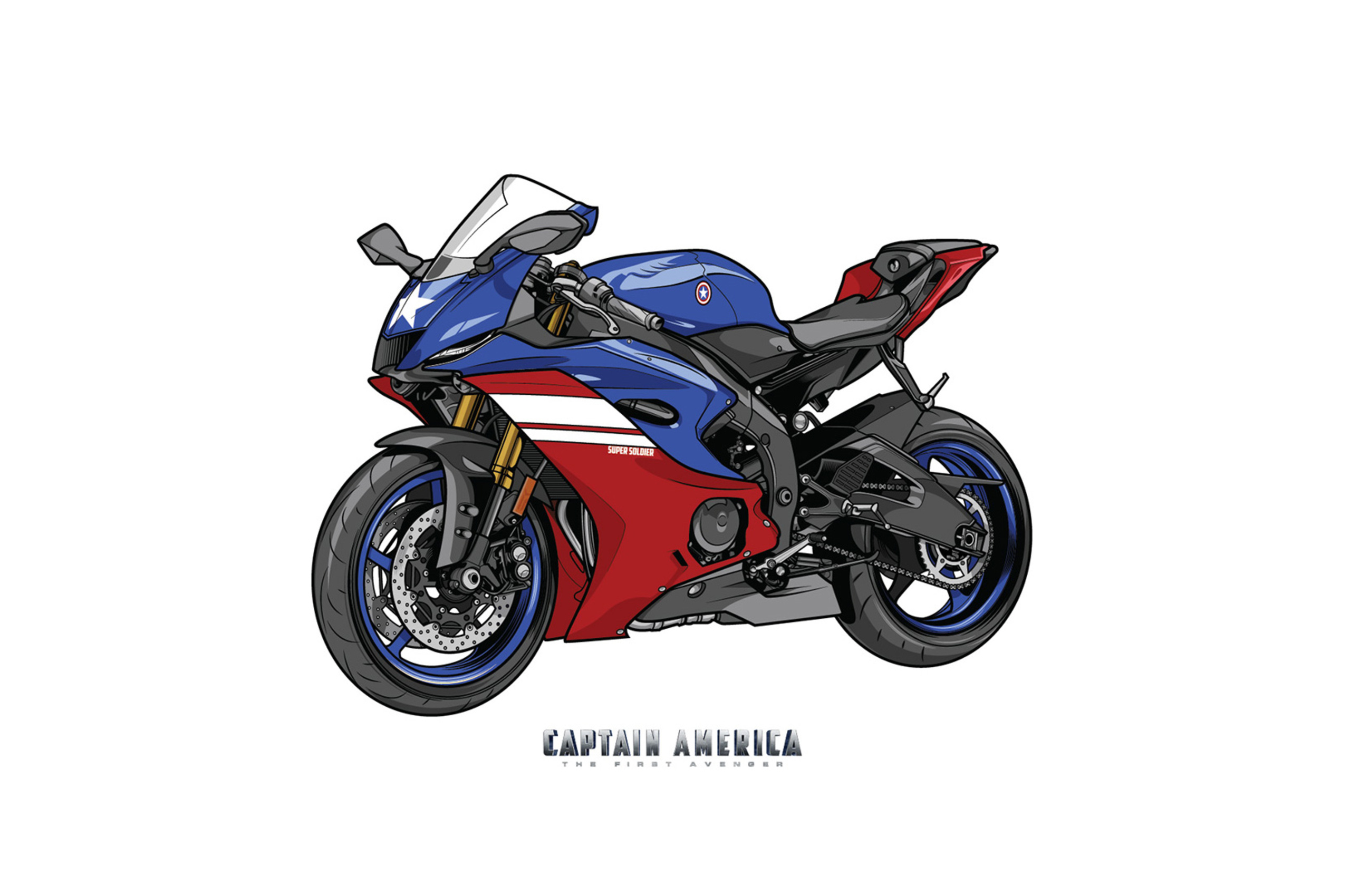 2560x1700 Captain America Marvel Yamaha R6 Crossover Chromebook