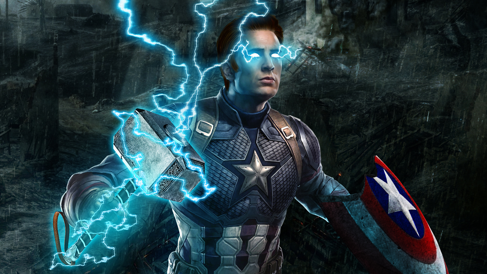 1920x1080 Captain America Mjolnir Avengers Endgame 4k Laptop Full