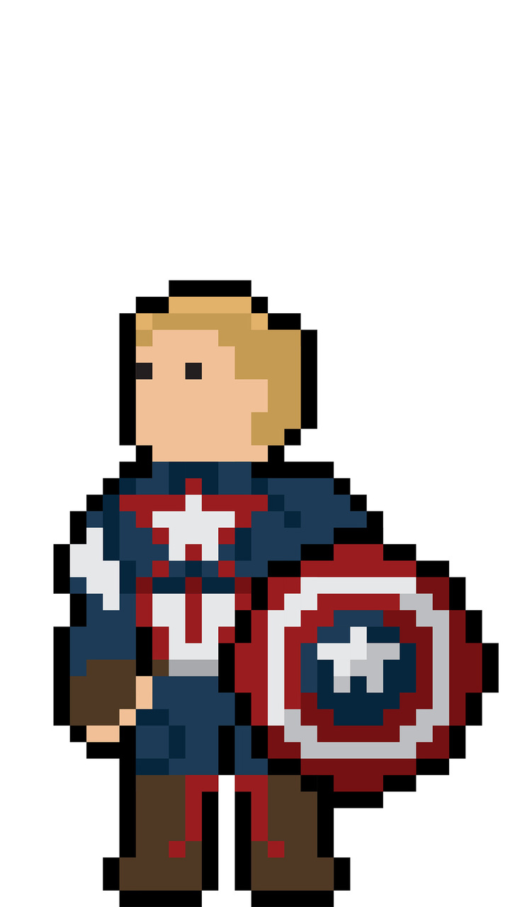 720x1280 Captain America Pixel Art Moto Gx Xperia Z1z3