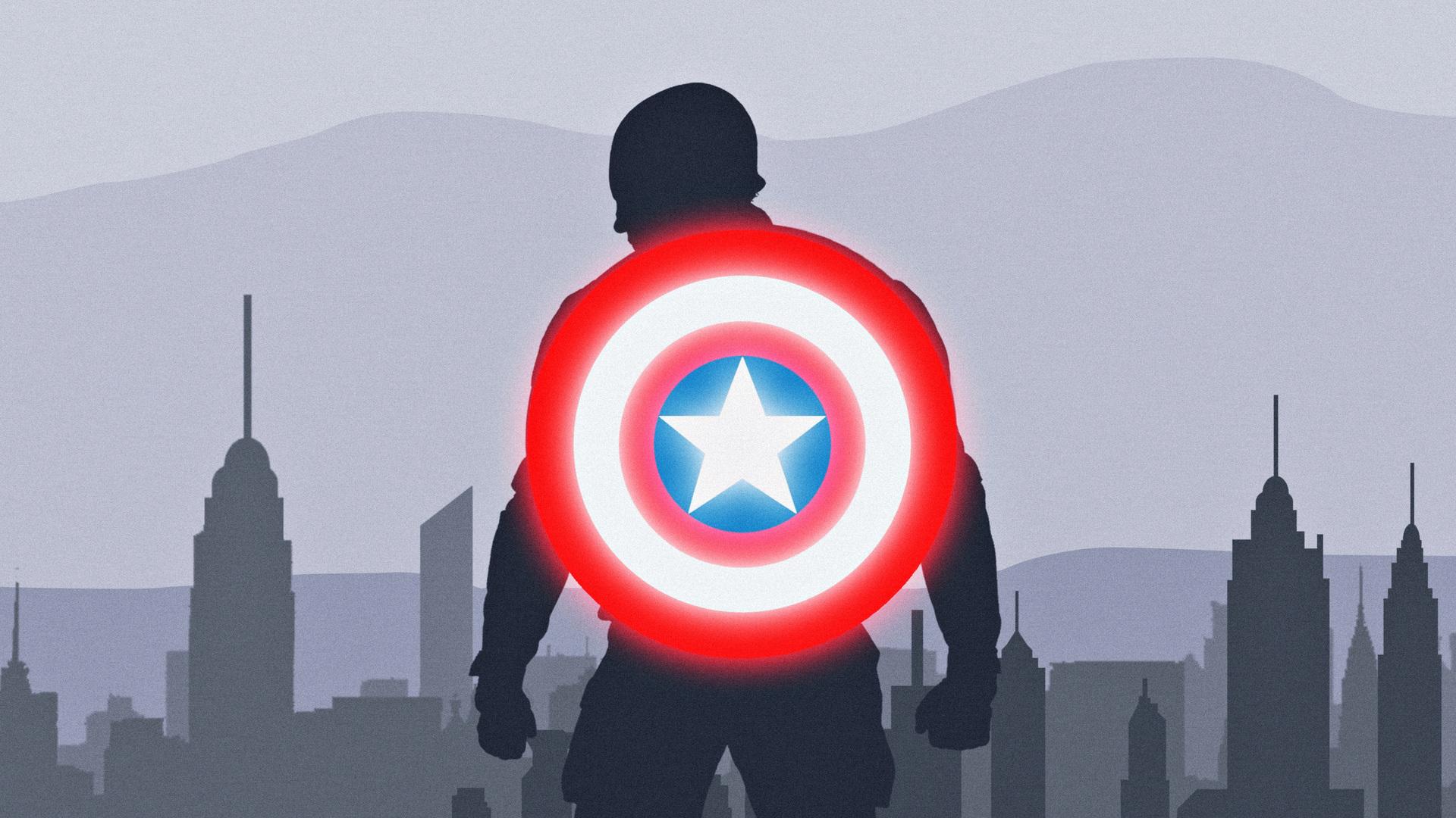 1920x1080 Captain America Shield Artwork Laptop Full HD ...