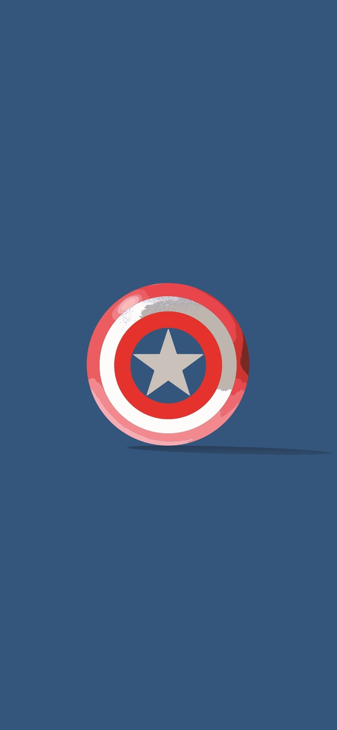 1125x2436 Captain America Shield Minimalism Iphone Xs Iphone 10