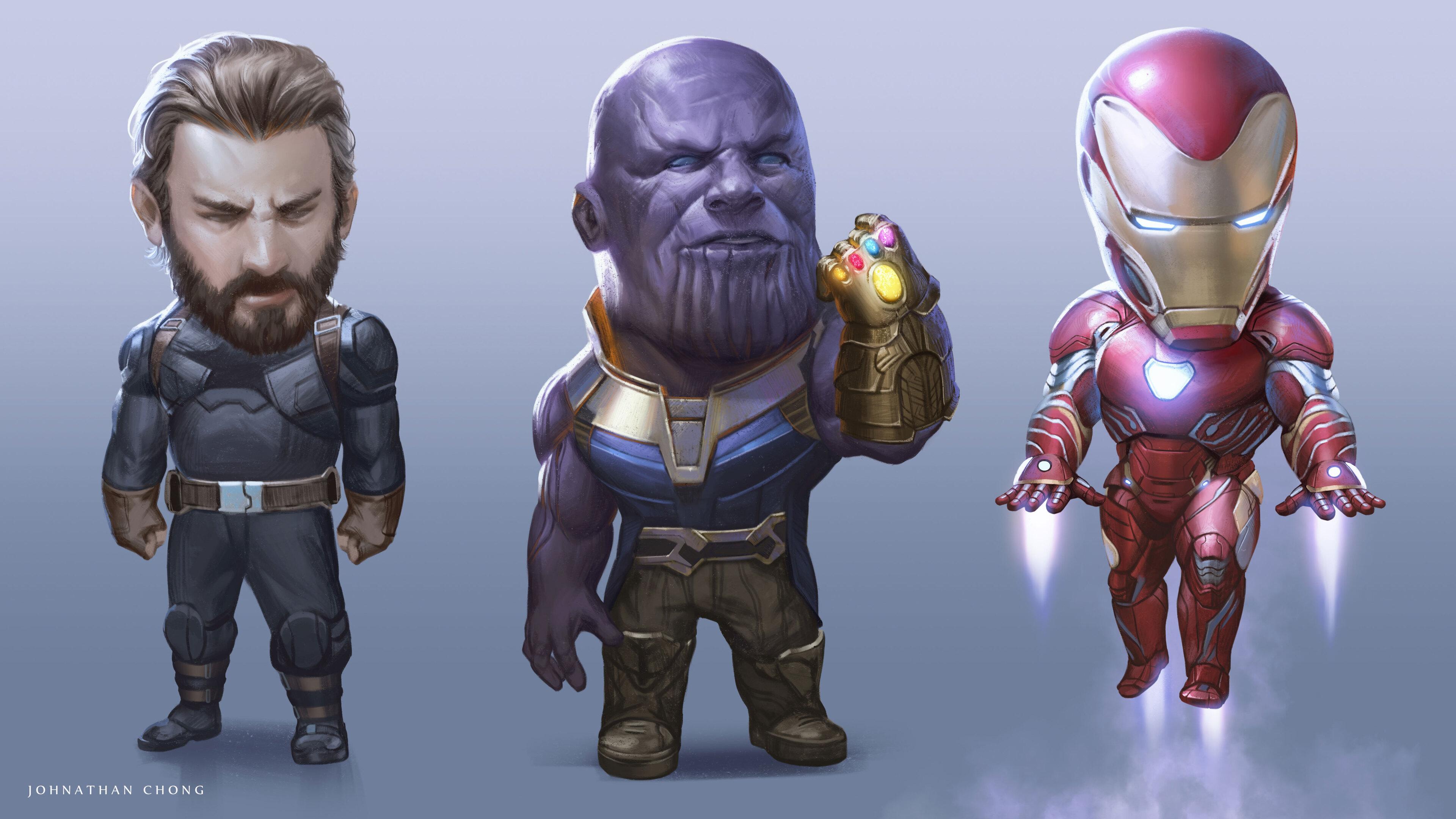 3840x2160 Captain America Thanos Iron Man Avengers Infinity