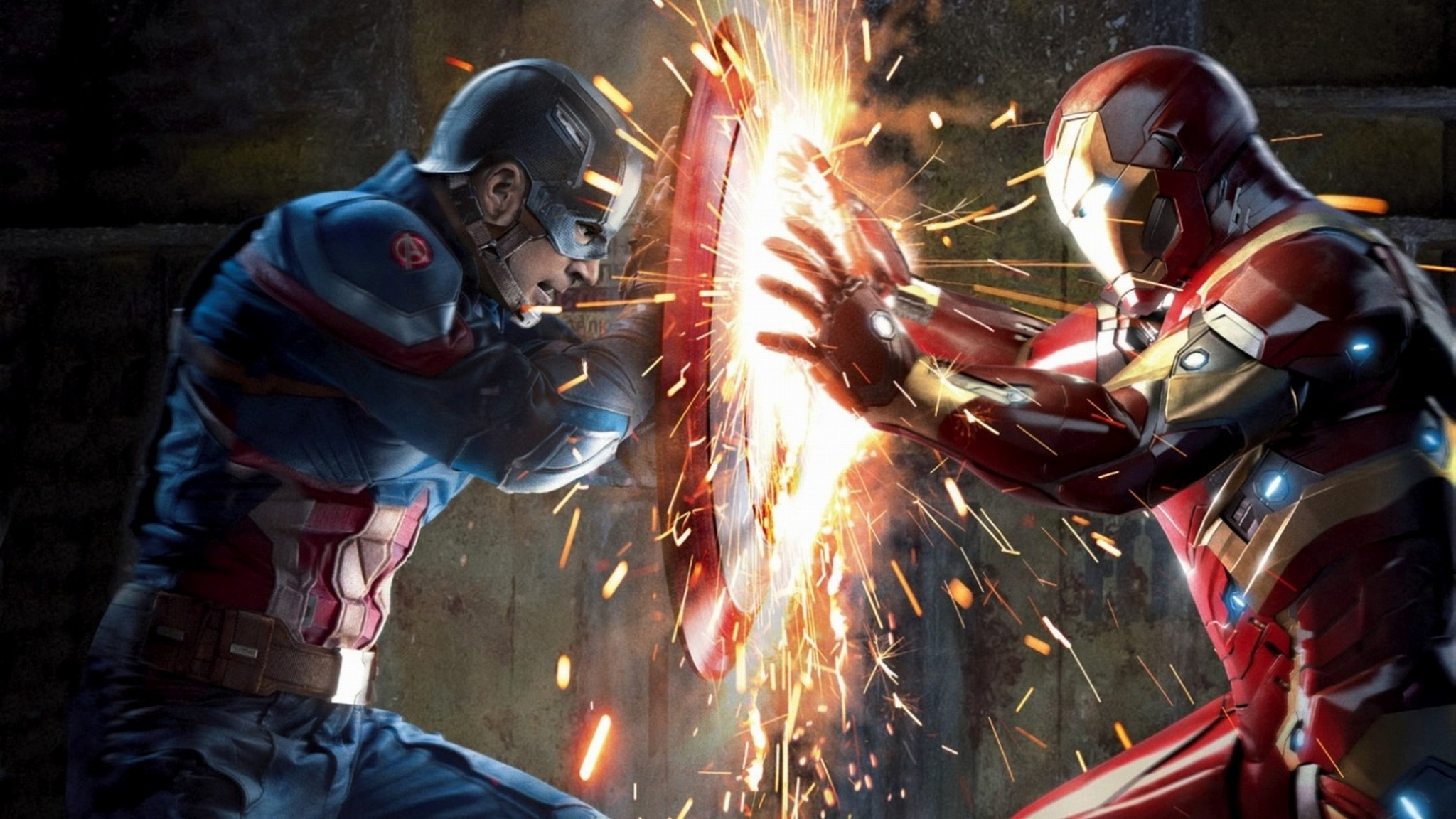 captain america vs iron man wallpaper  2048x1152 Captain America Vs Iron Man Civil War 2048x1152 Resolution ...