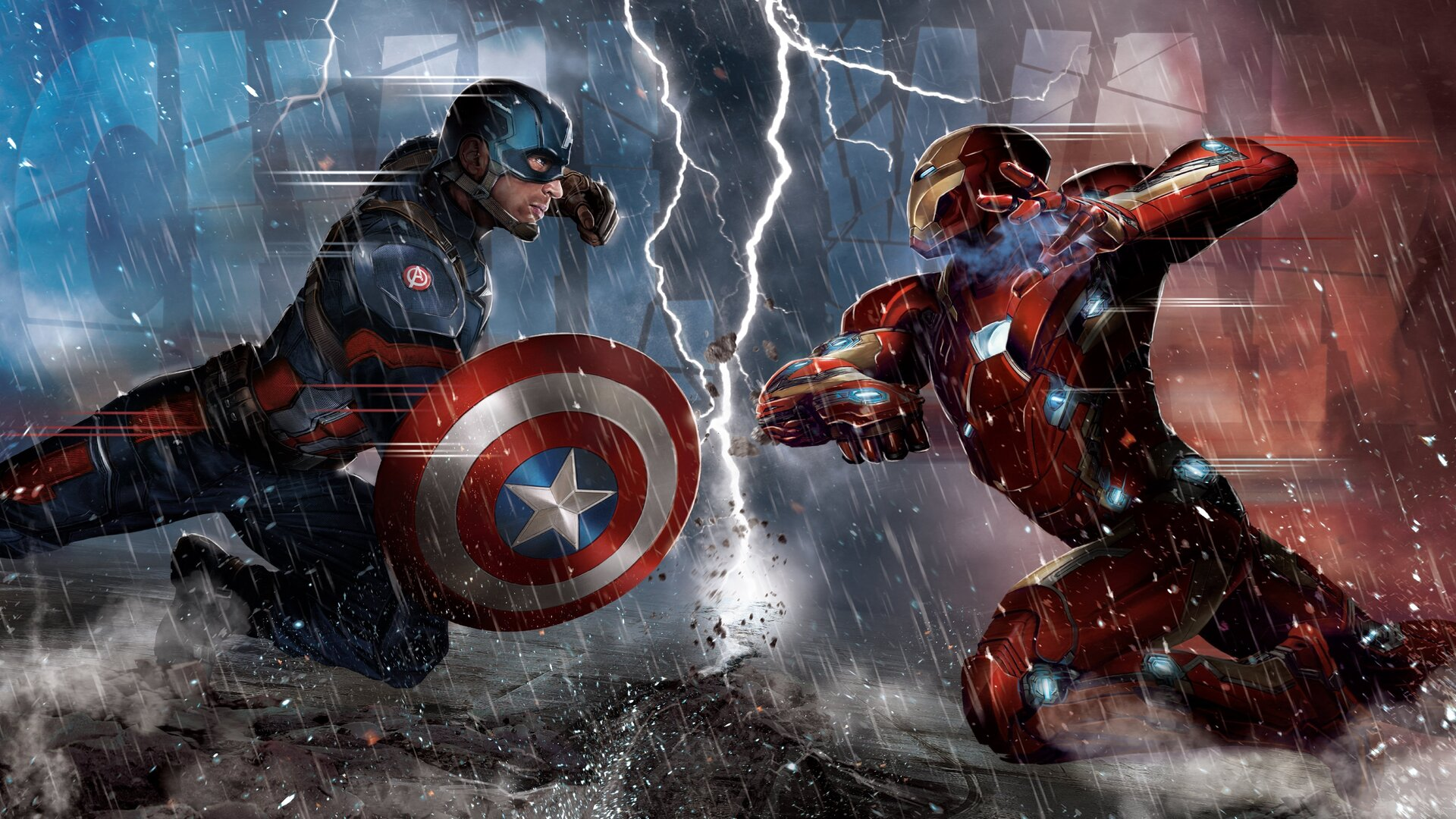 1920x1080 captain america vs iron man comic 5k laptop full hd 1080p