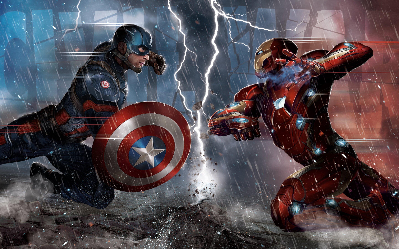 2880x1800 Captain America Vs Iron Man Comic 5k Macbook Pro Retina Hd