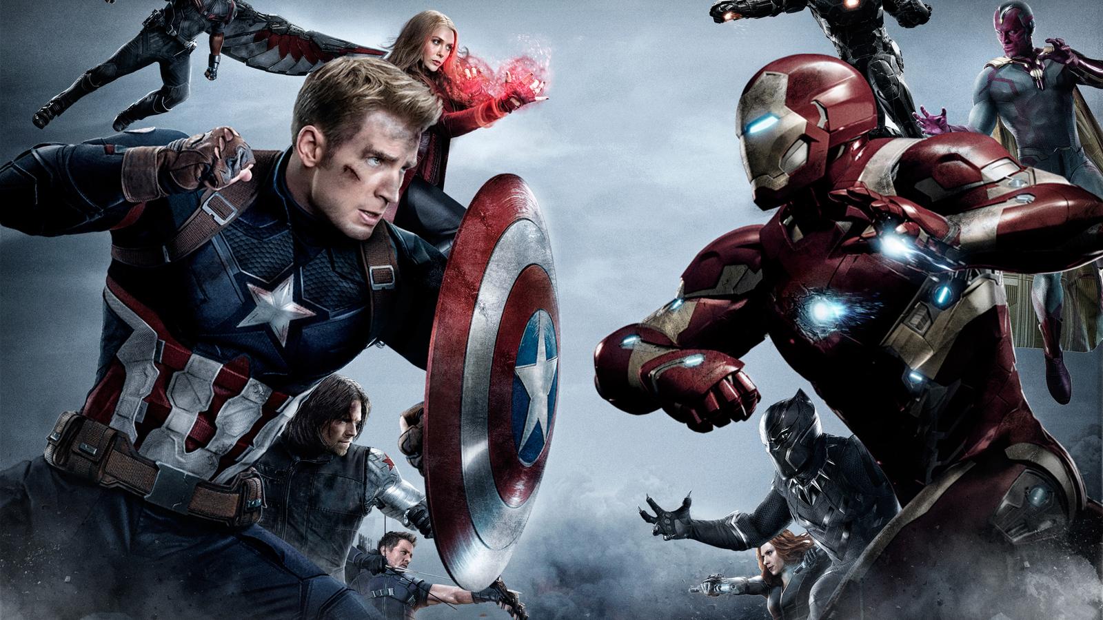 1600x900 Captain America Vs Iron Man Team 1600x900 Resolution Hd