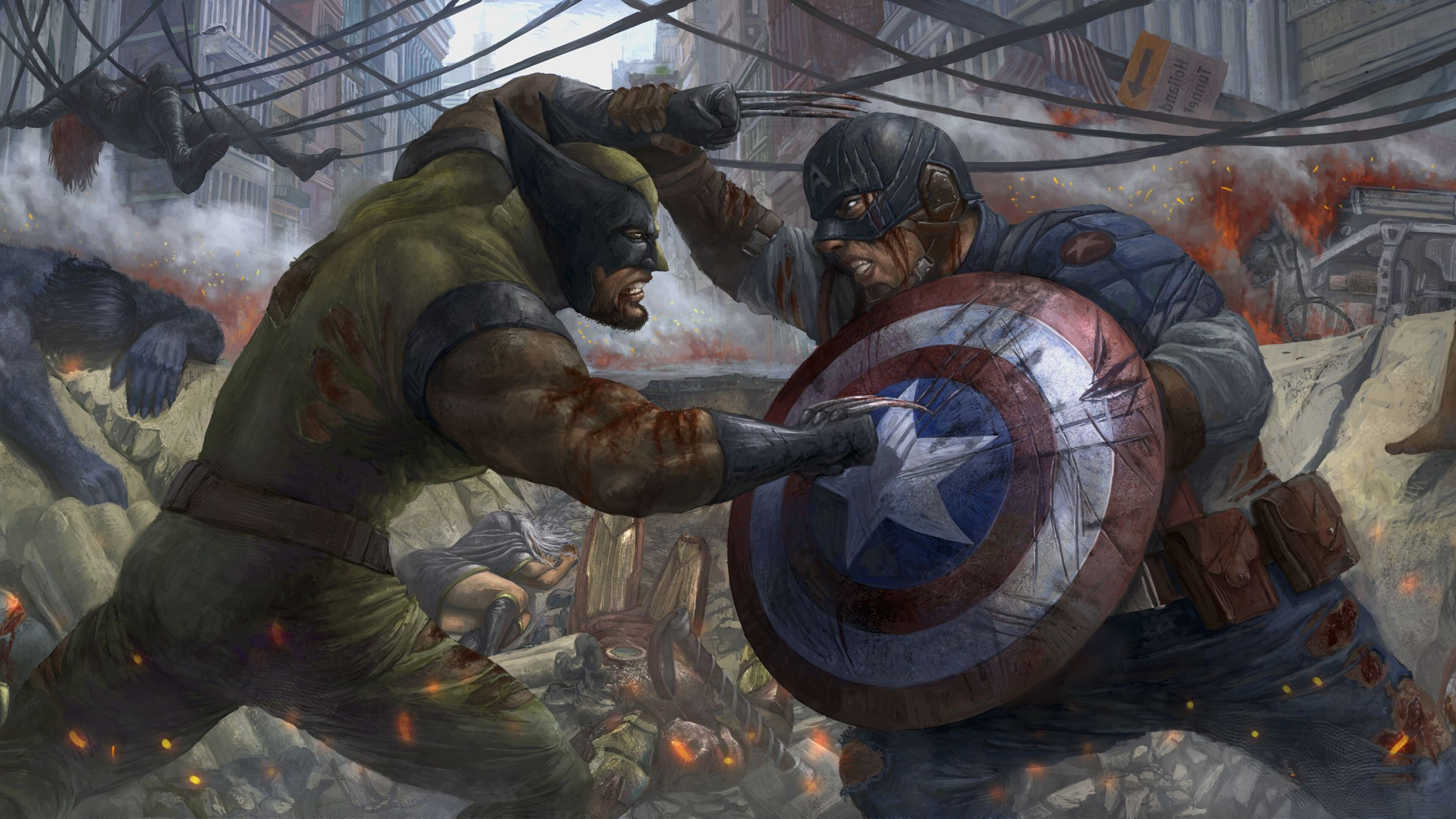 3840x2160 Captain America Vs Wolverine 4k Hd 4k Wallpapers Images