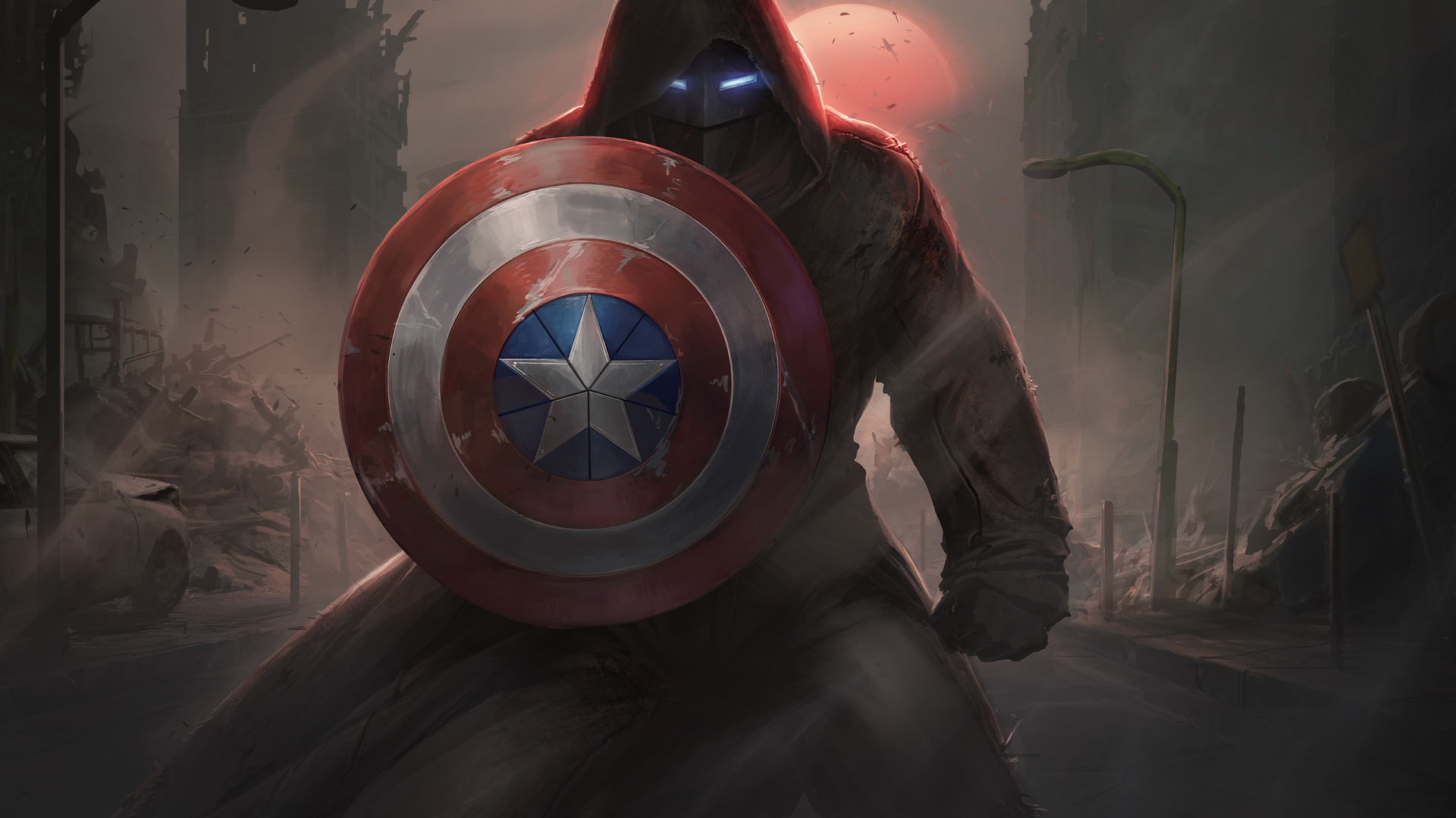 1920x1080 Captain America With His Shield Iron Mask ...