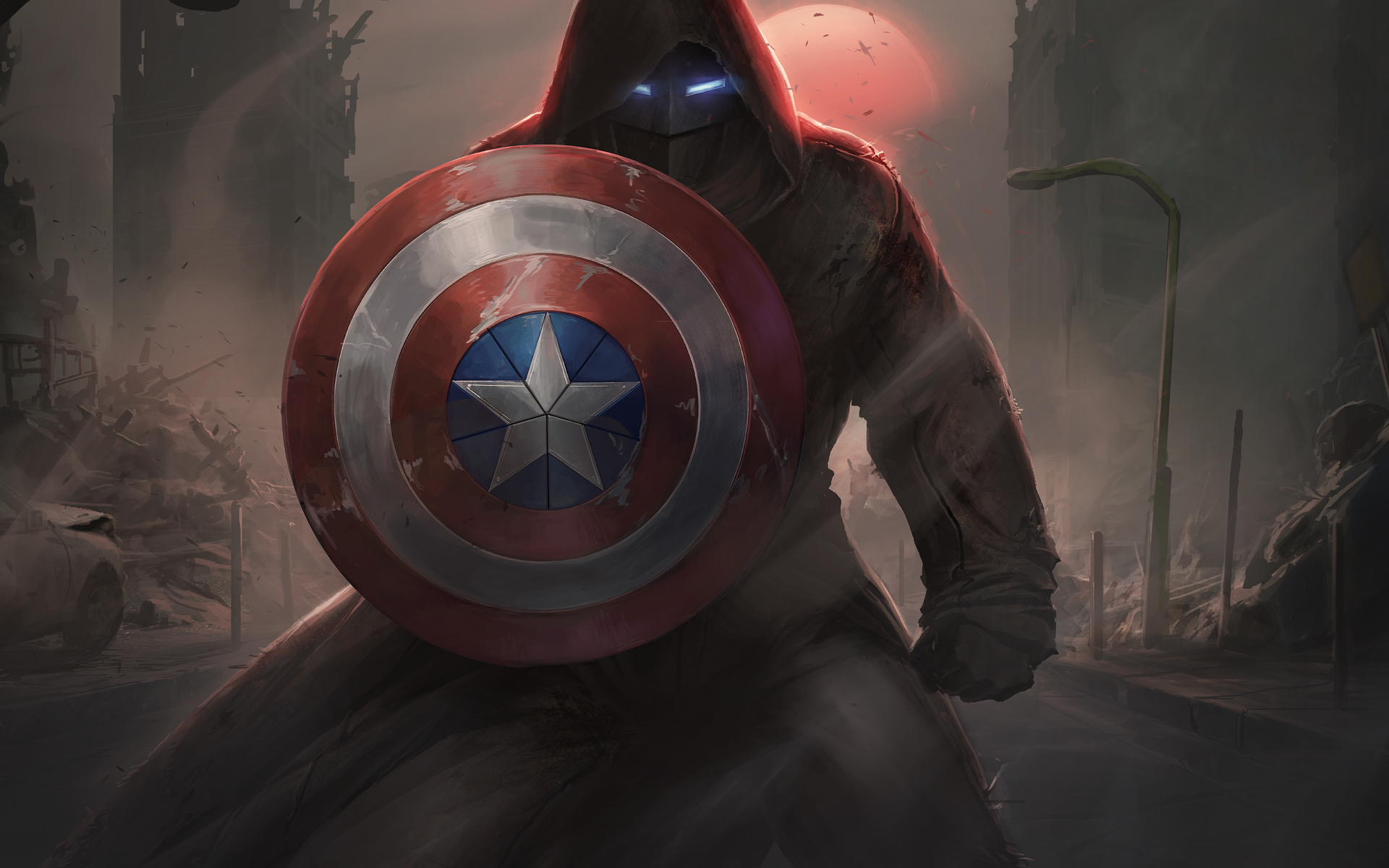 1920x1200 Captain America With His Shield Iron Mask Contest