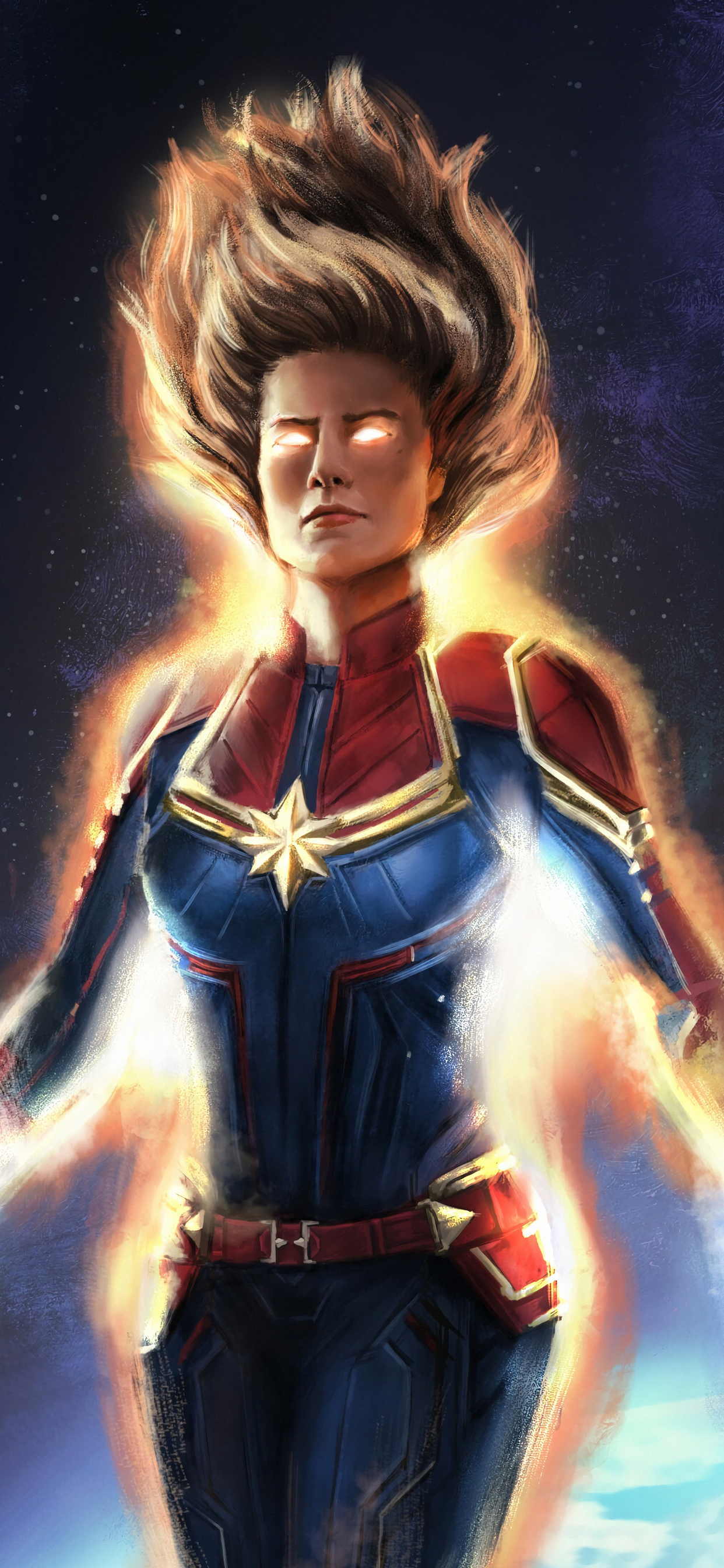 1242x2688 Captain Marvel Artsnew Iphone Xs Max Hd 4k Wallpapers Images Backgrounds Photos And Pictures