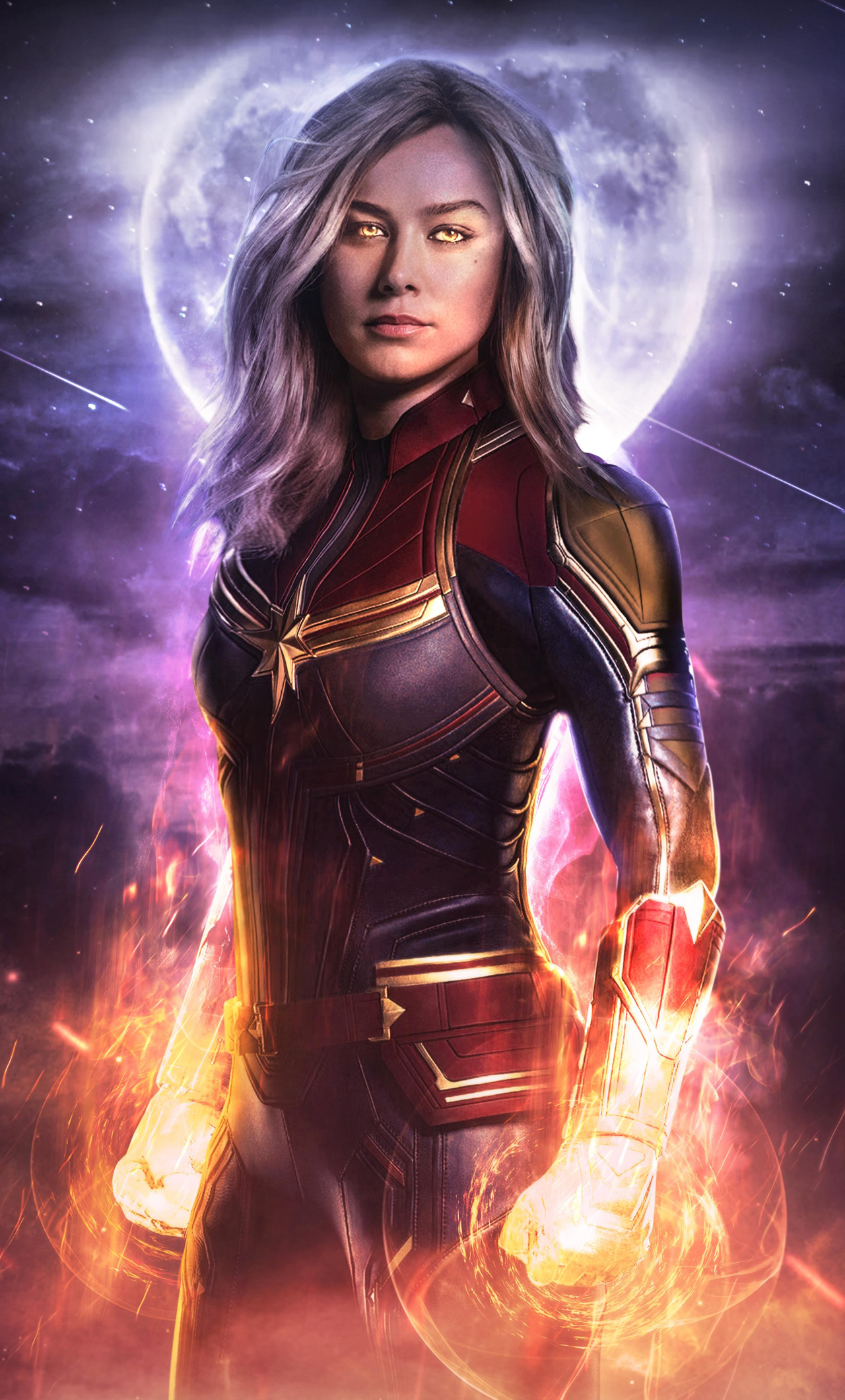 1280x2120 Captain Marvel Avengers End Game Iphone 6 Hd 4k