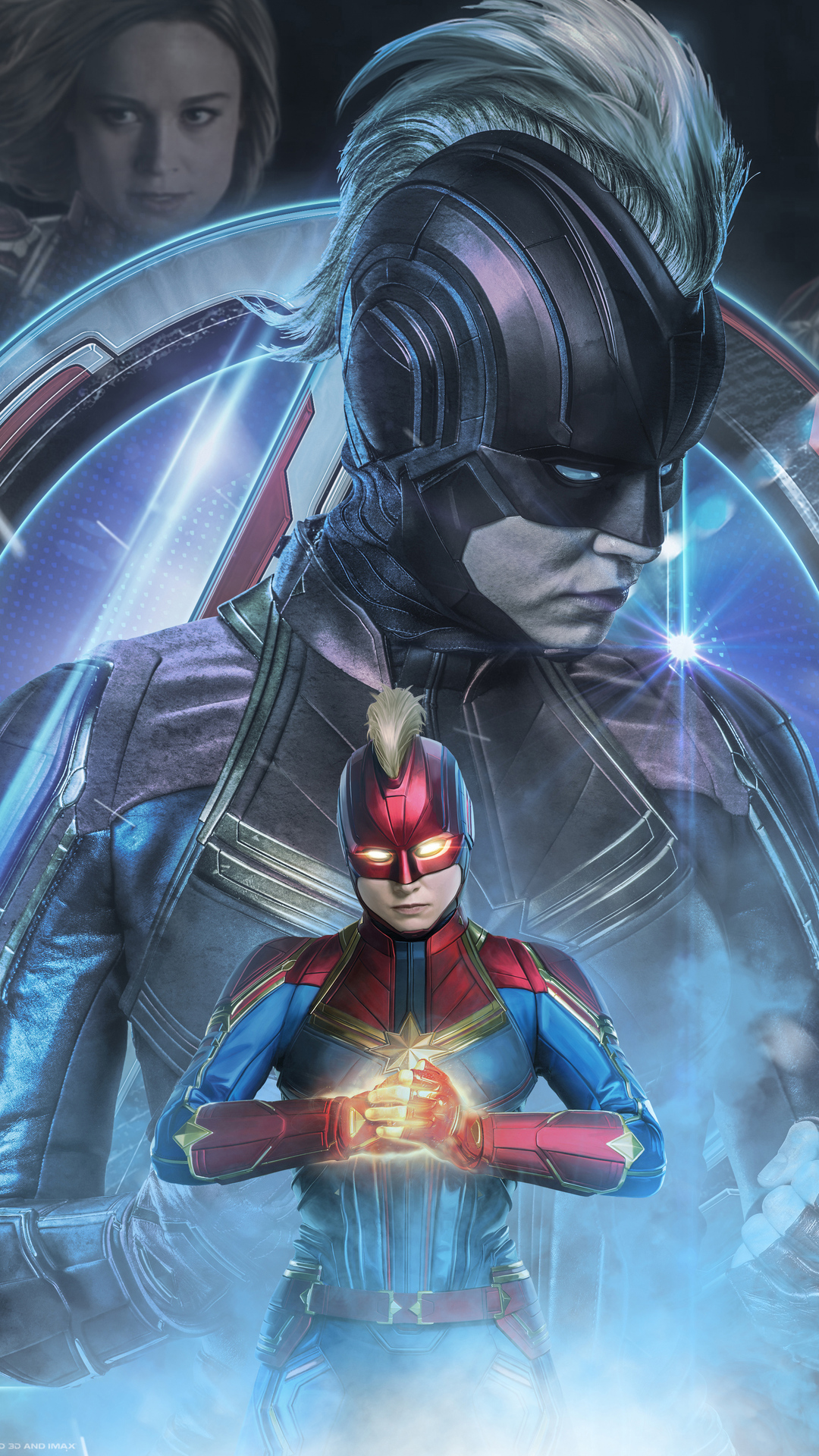 1080x1920 Captain Marvel In Avengers Endgame 2019 Iphone 7 ...
