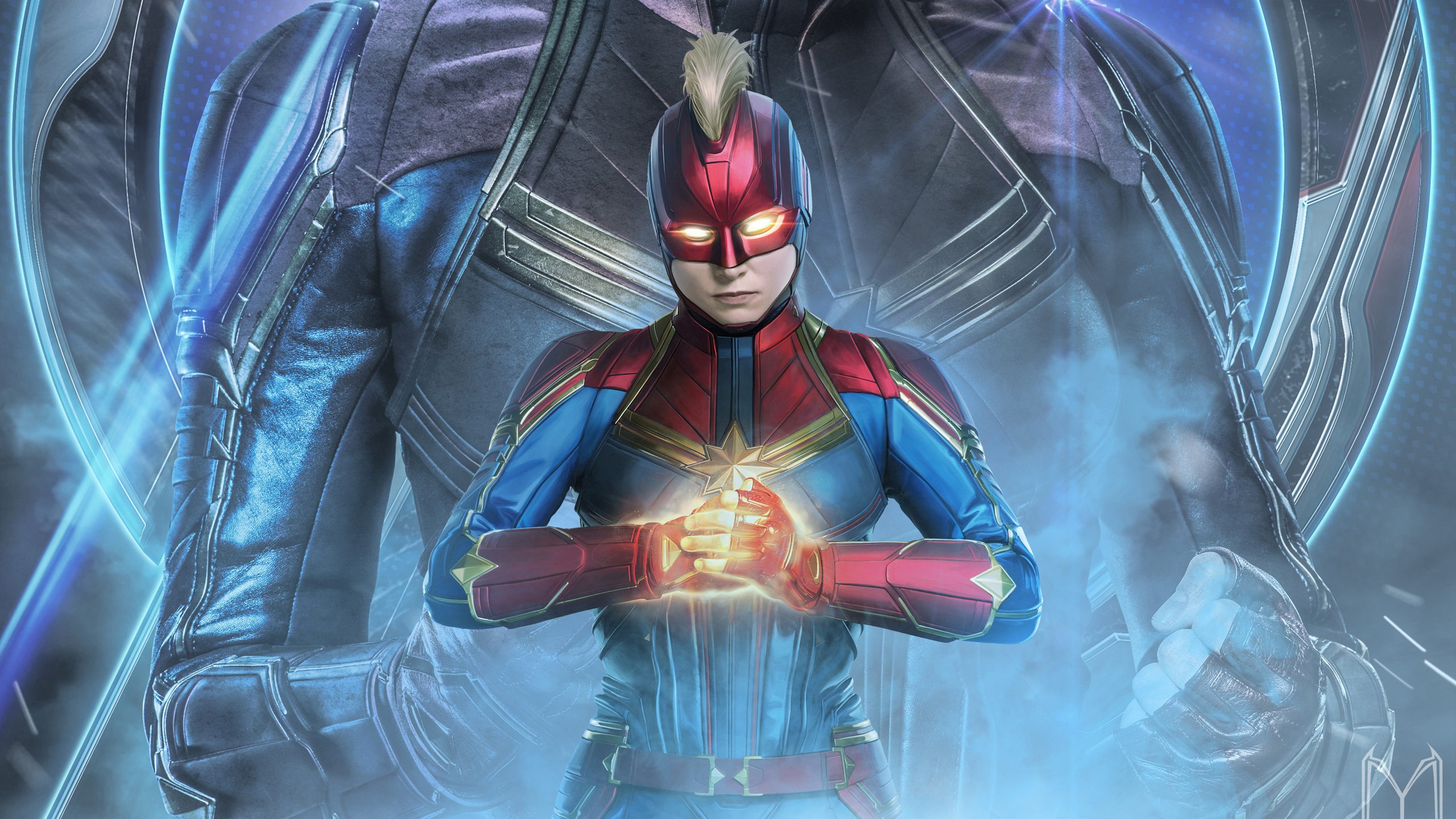 2560x1440 Captain Marvel In Avengers Endgame 2019 1440P ...