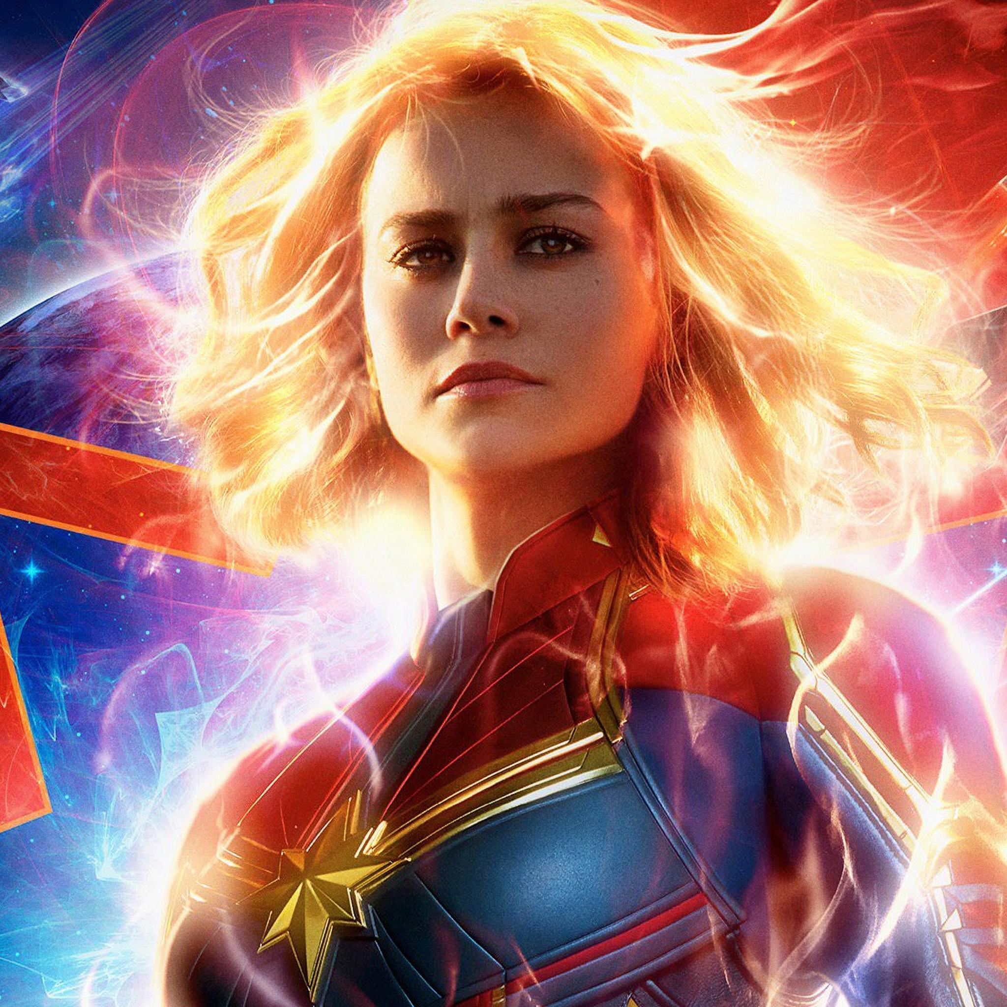 2048x2048 Captain Marvel Movie 2019 4k Ipad Air HD 4k