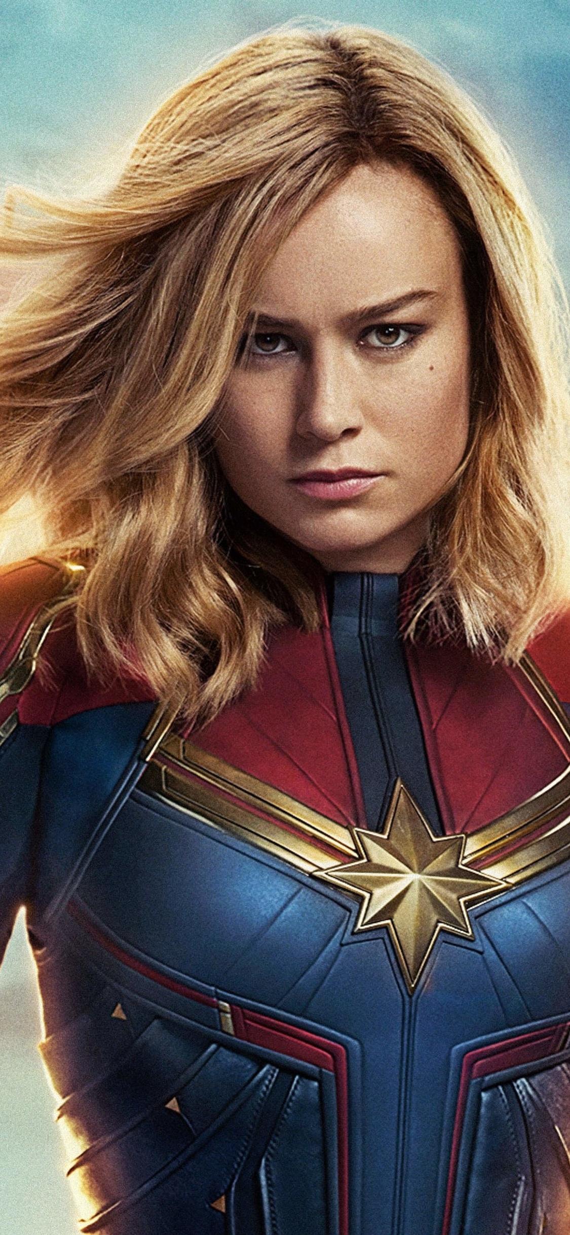 1125x2436 Captain Marvel Movie 4k 2019 Iphone XS,Iphone 10 ...