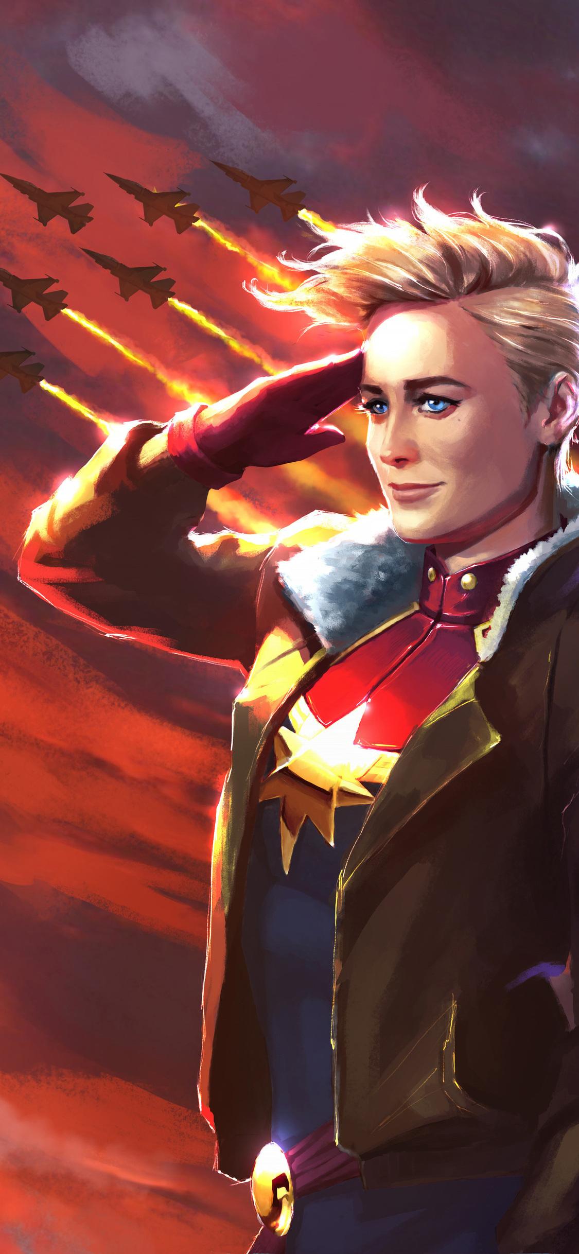 1125x2436 Captain Marvel Movie Carol Danvers Iphone Xs