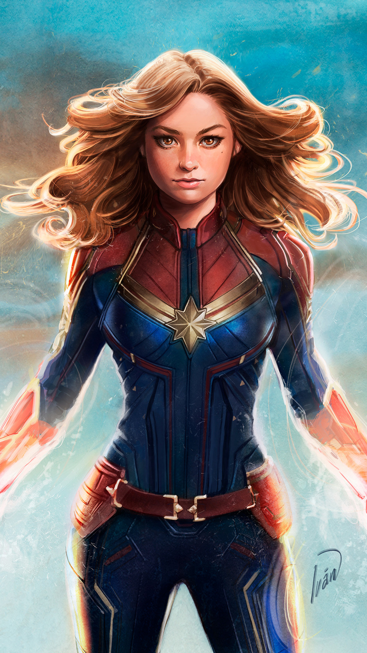 750x1334 Captain Marvel New Artwork Iphone 6 Iphone 6s Iphone 7 Hd