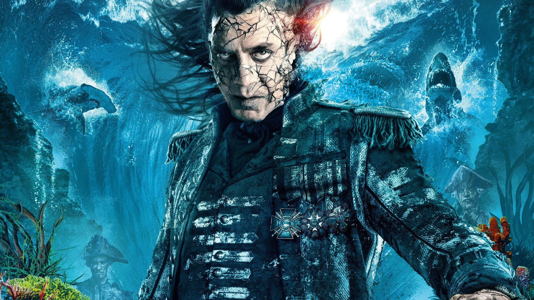 Dead Men Tell No Tales Wallpaper: 2048x1152 Captain Salaza In Pirates Of The Caribbean Dead