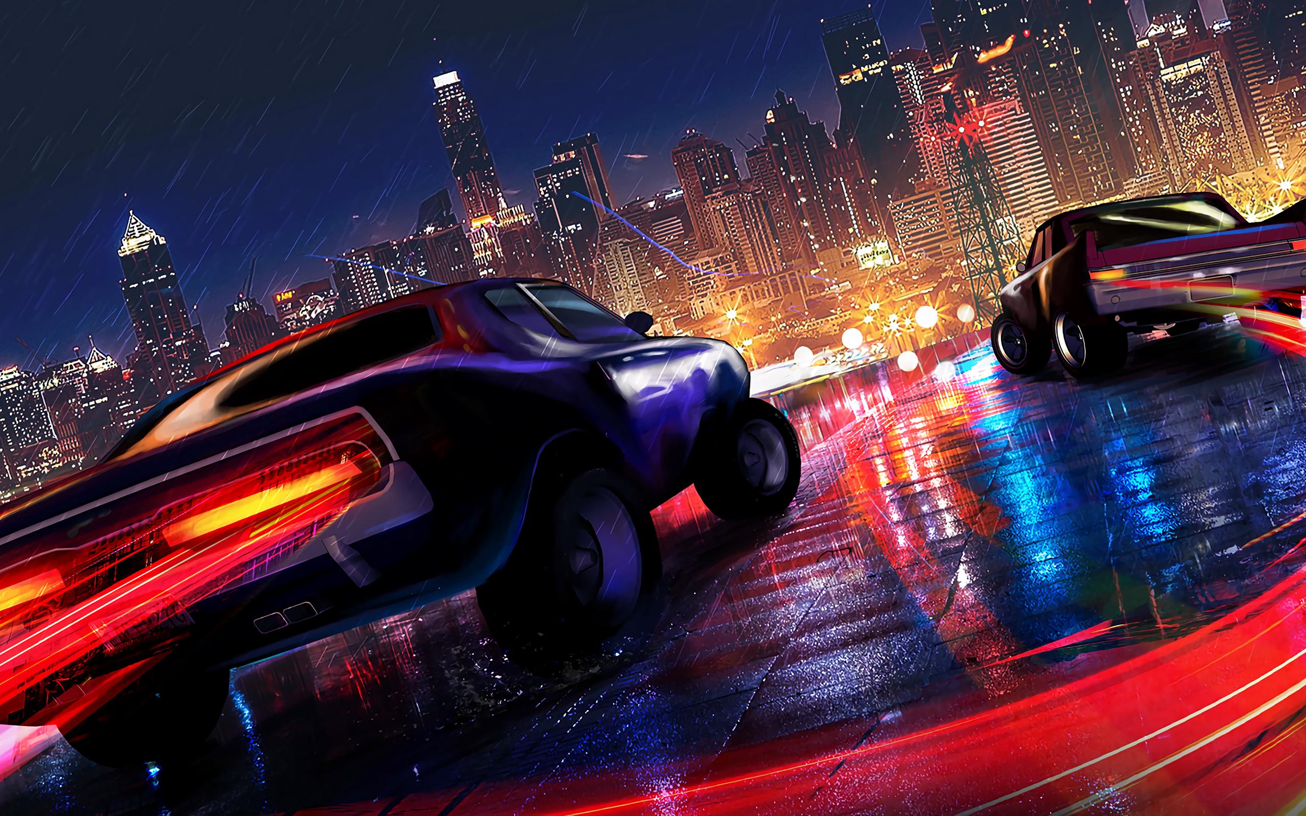 2560x1600 Car Drifting Neon Lights 4k 2560x1600 Resolution ...