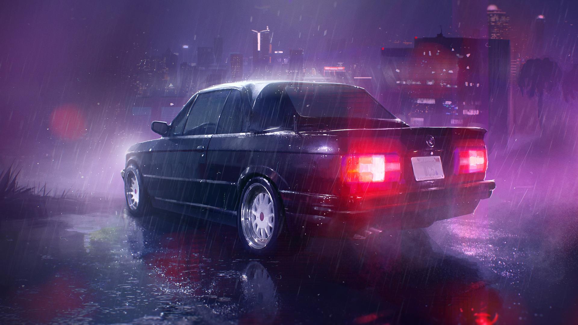 1920x1080 Car Raining Night Laptop Full HD 1080P HD 4k ...