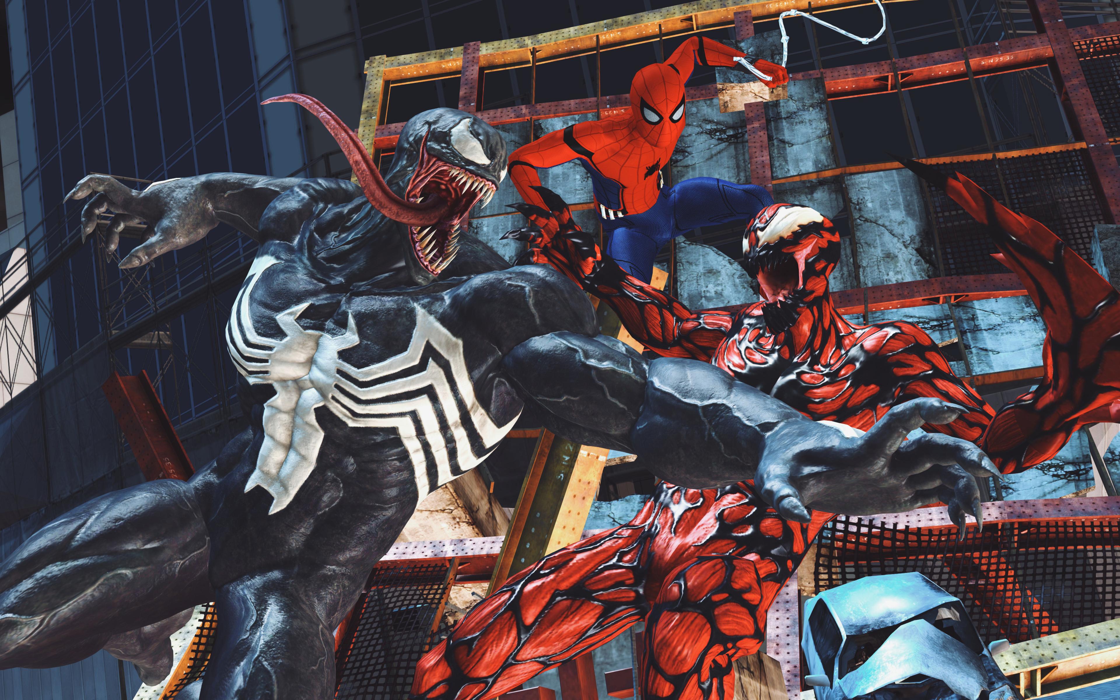 3840x2400 Carnage Venom Spiderman Artwork 4k 4k HD 4k ...