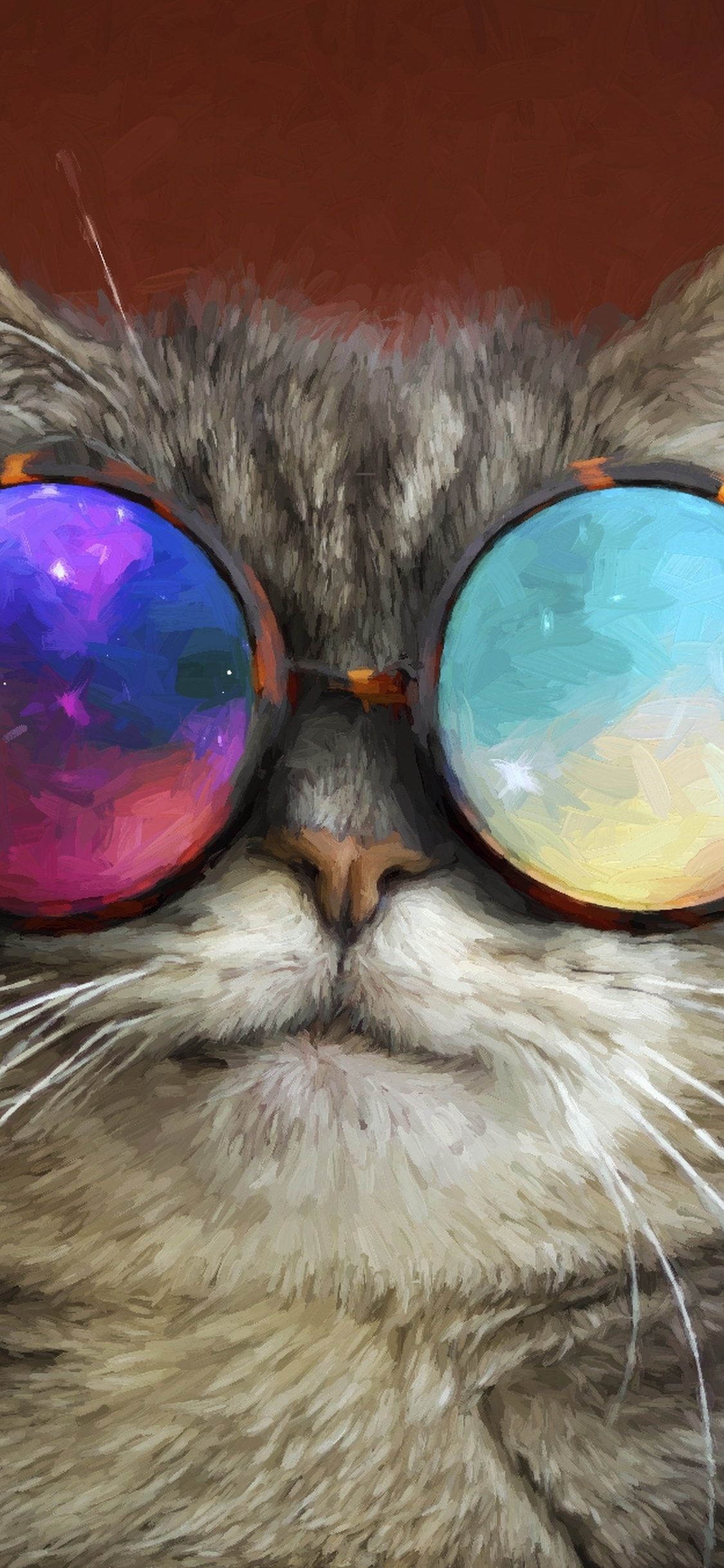 Cat Glasses Party Cool Painting Tx