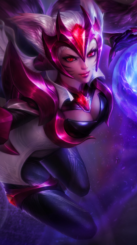 480x854 Challenger Ahri League Of Legeneds 8k Android One Hd