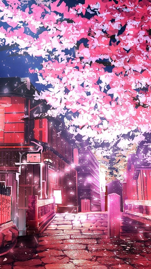 640x1136 Cherry Tree Anime Iphone 5 5c 5s Se Ipod Touch Hd 4k Wallpapers Images Backgrounds Photos And Pictures
