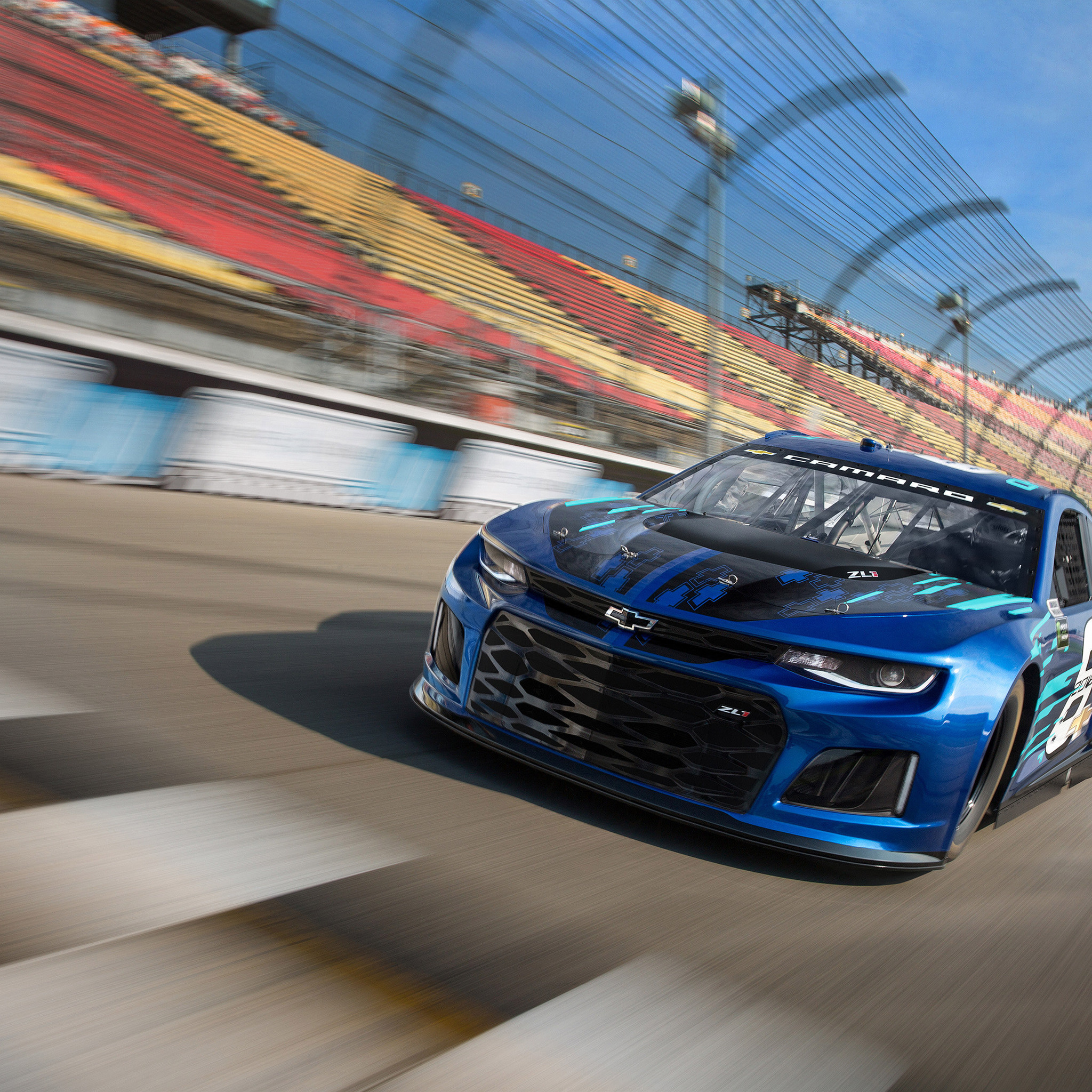 2048x2048 Chevrolet Camaro ZL1 NASCAR 2018 Ipad Air HD 4k