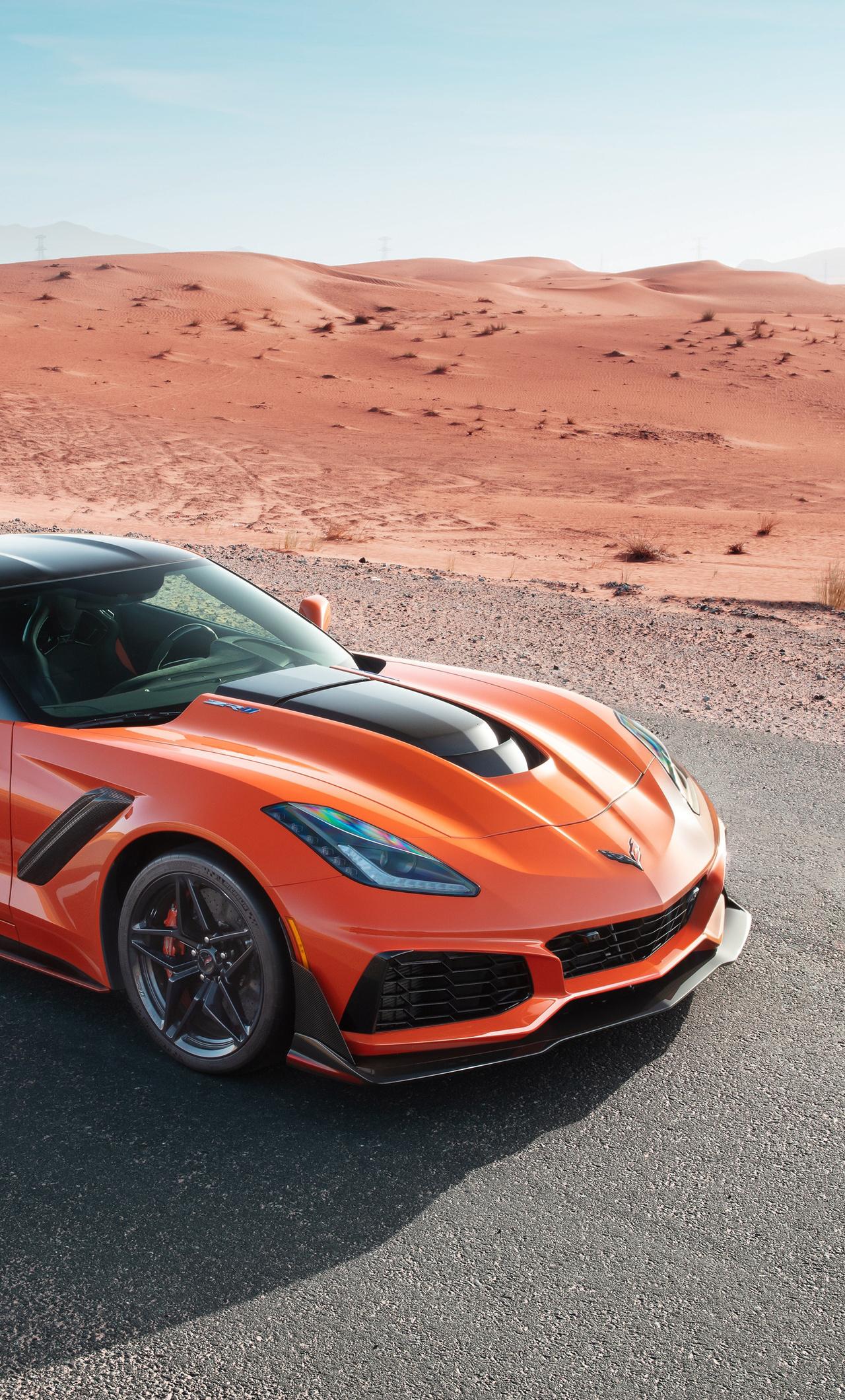 1280x2120 Chevrolet Corvette Zr1 2019 Front Iphone 6 Hd 4k