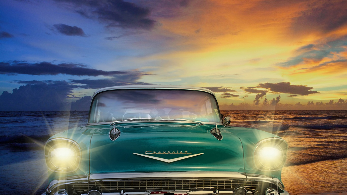 1366x768 Chevrolet Old Retro Classic Vintage Car 1366x768
