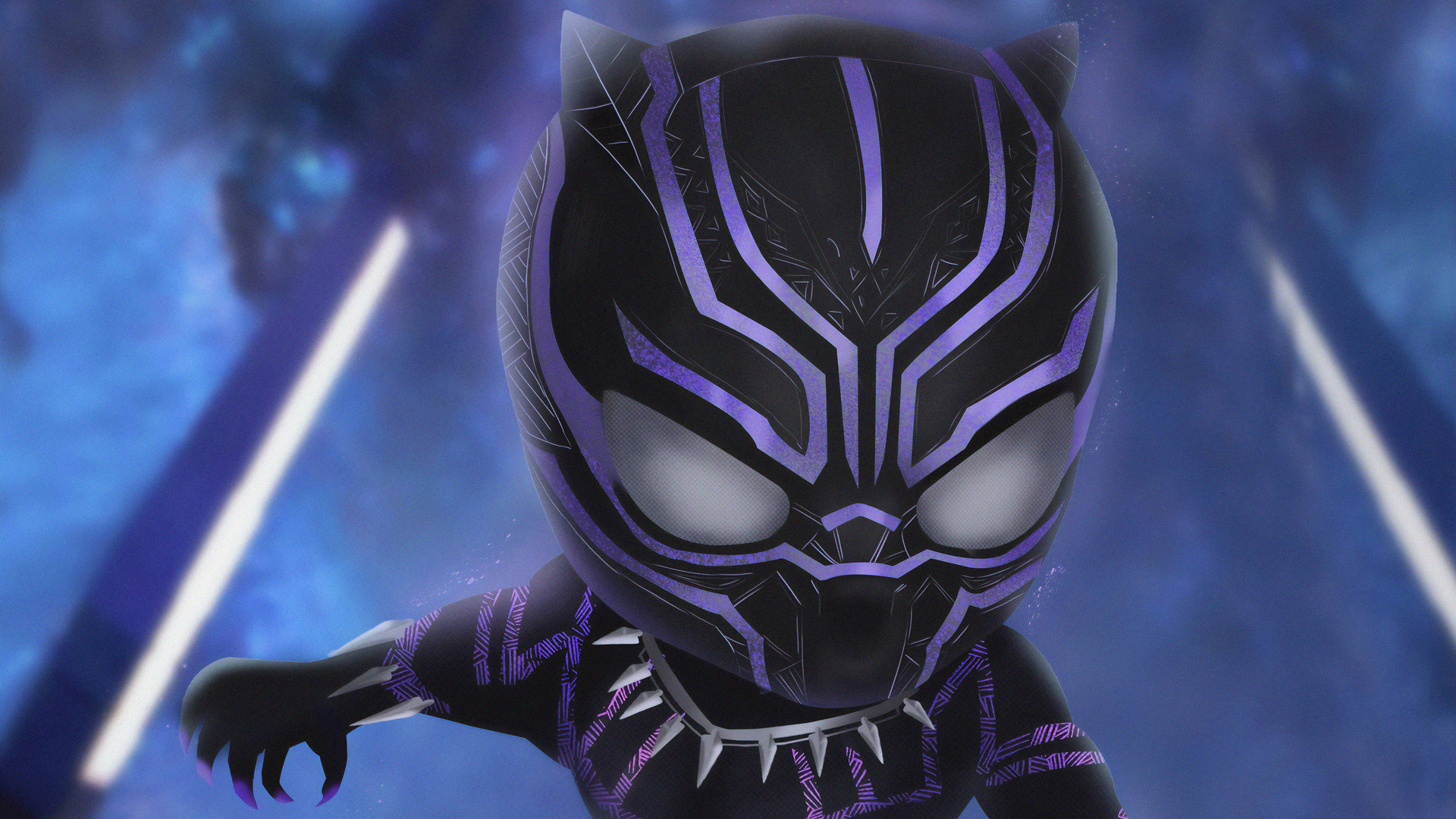 Wallpaper At Washington 1080p Black Panther Purple Wallpaper