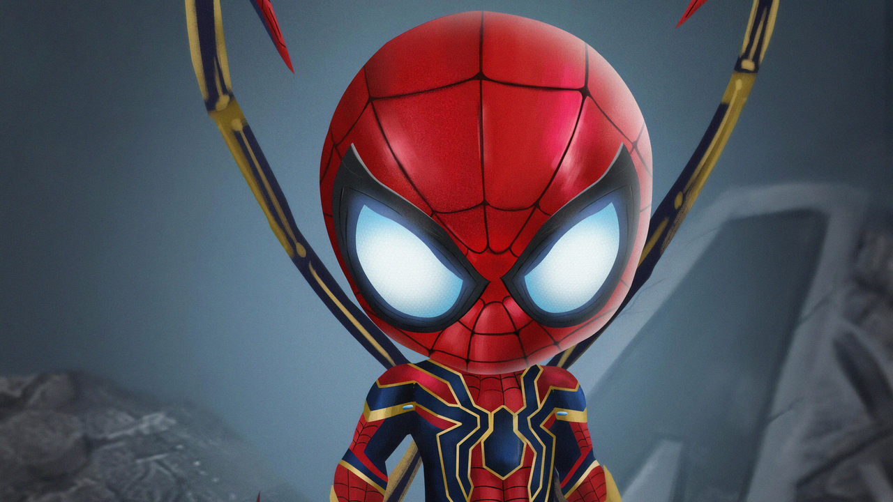 1280x720 Chibi Iron Spiderman 720p Hd 4k Wallpapers Images