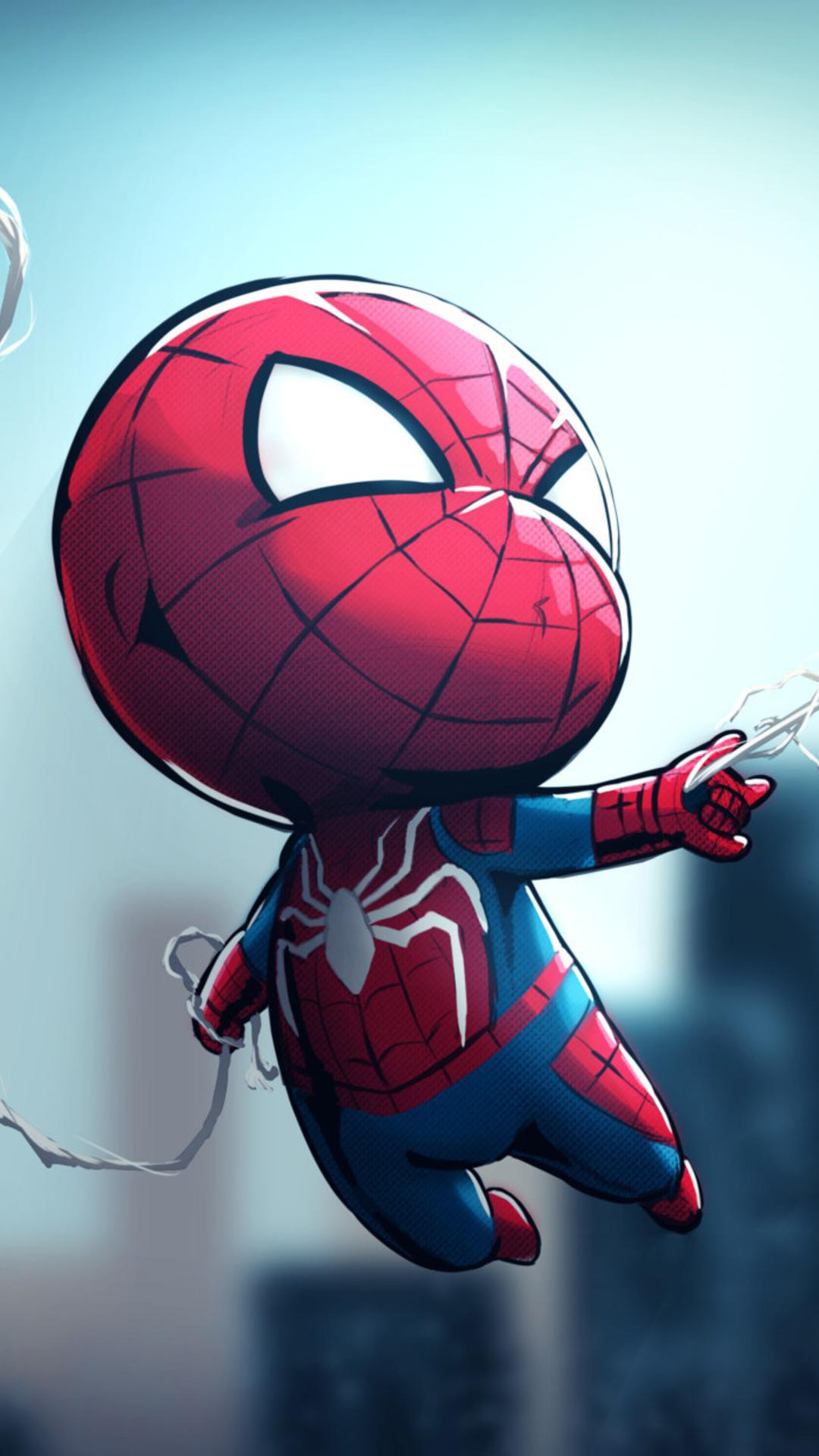 1080x1920 Chibi Spiderman Iphone 7,6s,6 Plus, Pixel xl ...