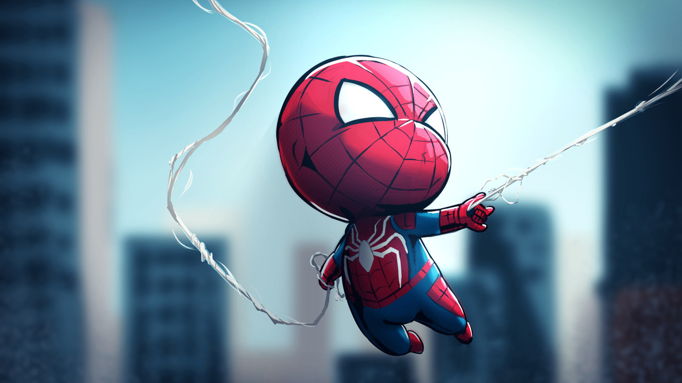 1366x768 Chibi Spiderman 1366x768 Resolution HD 4k Wallpapers
