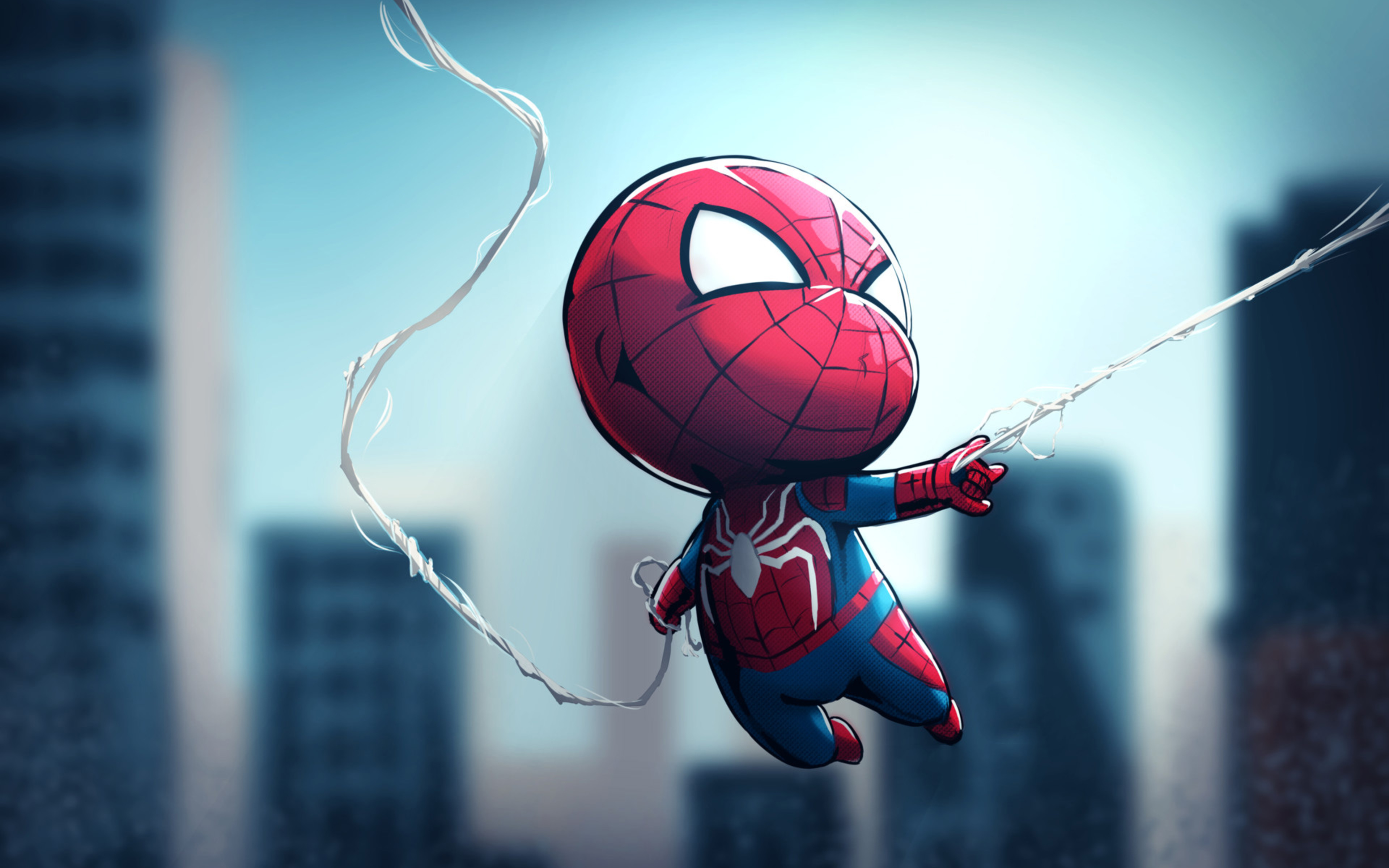 3840x2400 chibi spiderman 4k hd 4k wallpapers images backgrounds photos and pictures - Chibi wallpaper hd ...