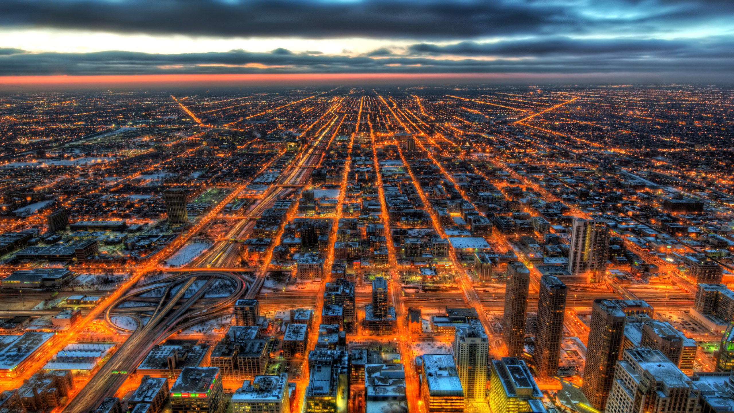 2560x1440 Chicago HDR 1440P Resolution HD 4k Wallpapers ...