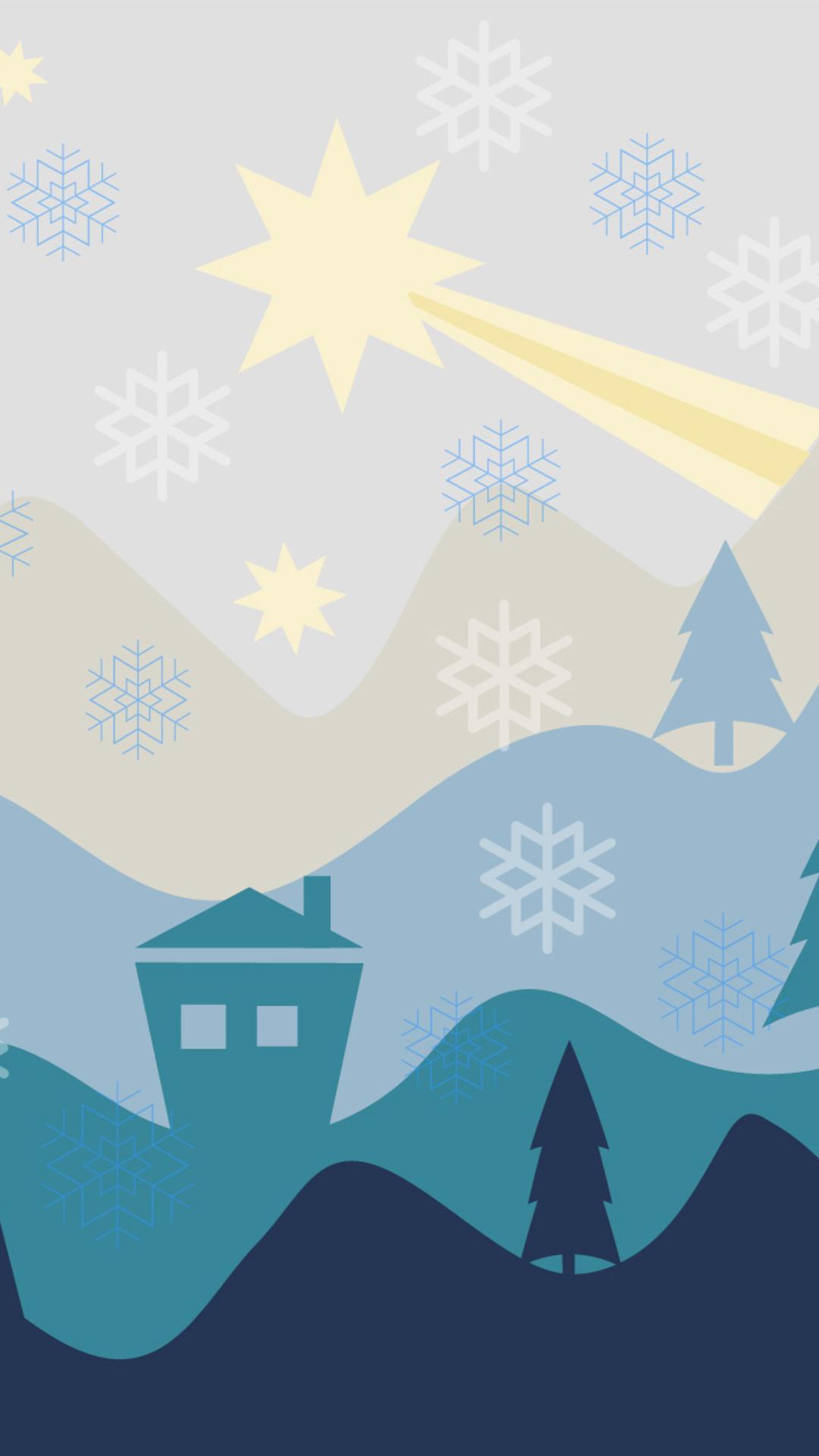 1080x1920 Christmas Flat Design Background Iphone 7,6s,6 Plus, Pixel ...