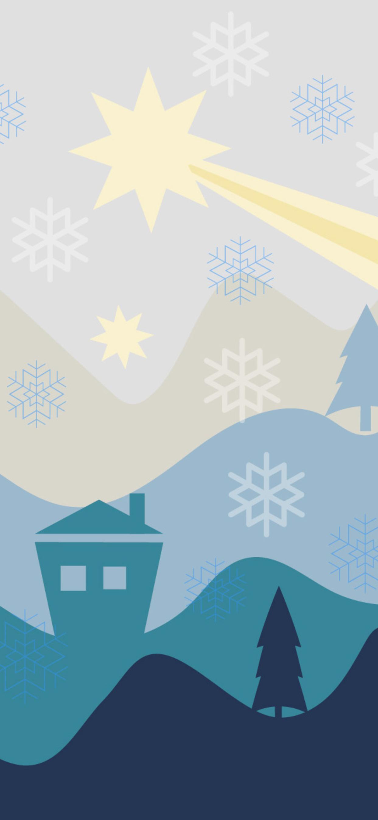 1242x2688 Christmas Flat Design Background Iphone XS MAX HD 4k ...