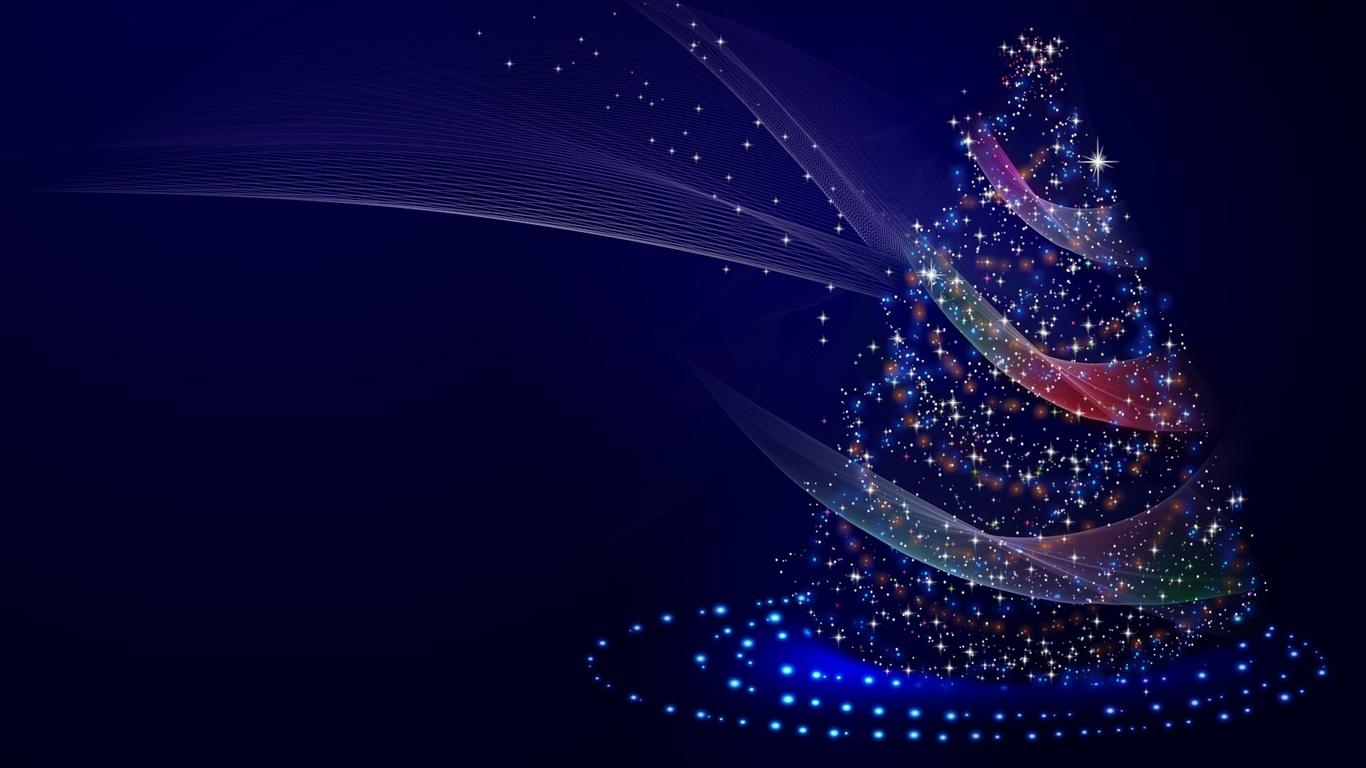 1366x768 Christmas Tree Illustrations 1366x768 Resolution