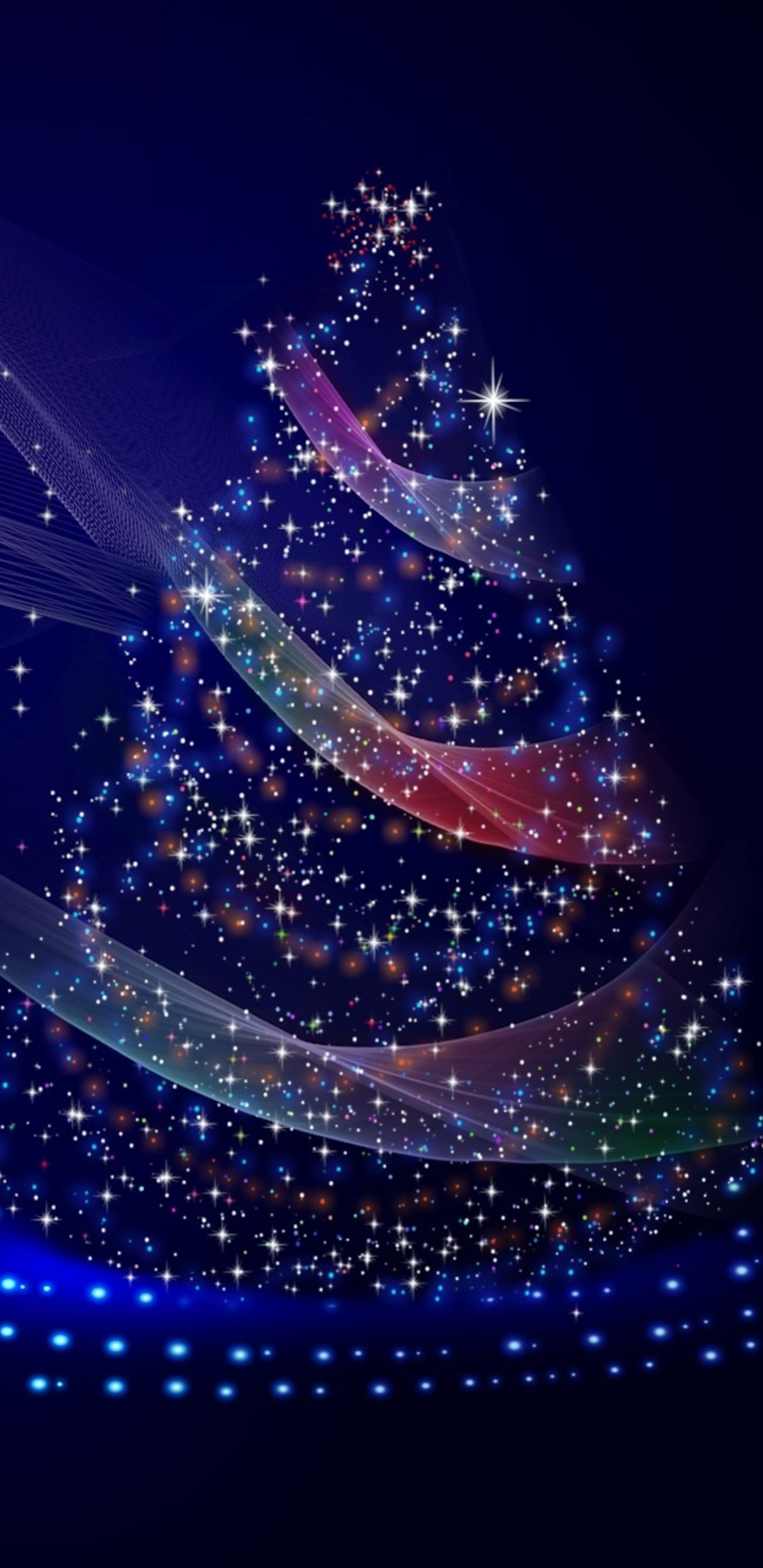 1440x2960 christmas tree illustrations samsung galaxy note - Galaxy christmas wallpaper ...