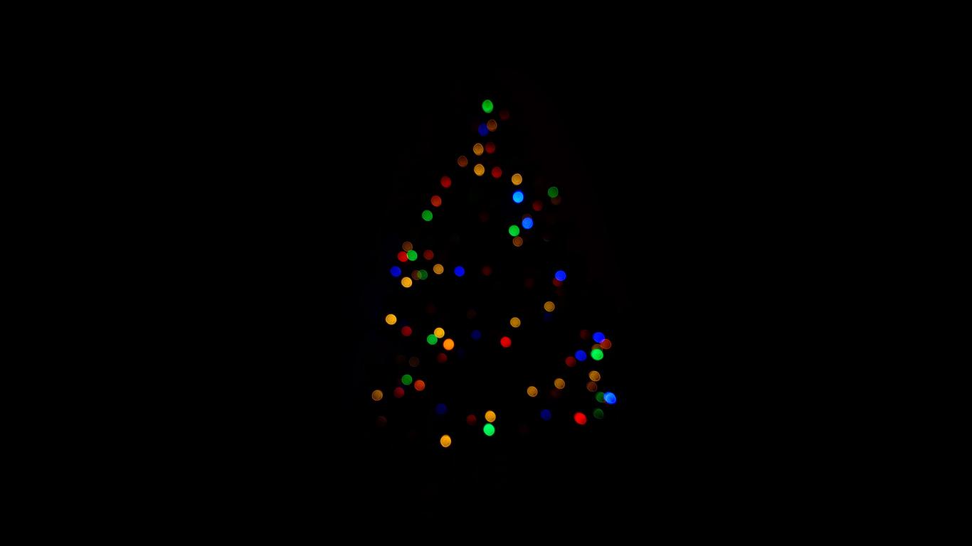 1366x768 Christmas Tree Minimalism Dark 4k 1366x768 Resolution Hd