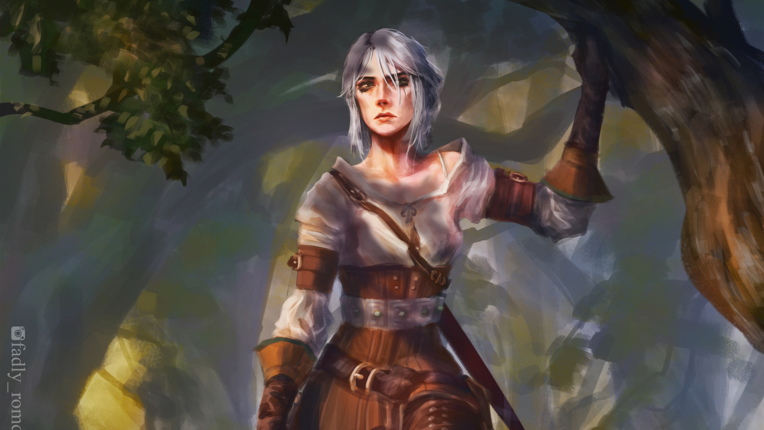 2560x1440 Ciri The Witcher 3 4k 1440p Resolution Hd 4k Wallpapers