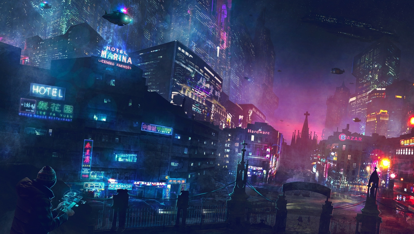 1360x768 City Digital Art Laptop Hd Hd 4k Wallpapers Images Backgrounds Photos And Pictures