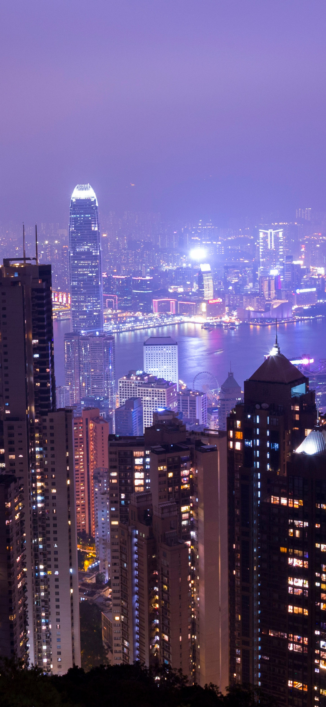 Citylights Tall Buildings Evening View Qj