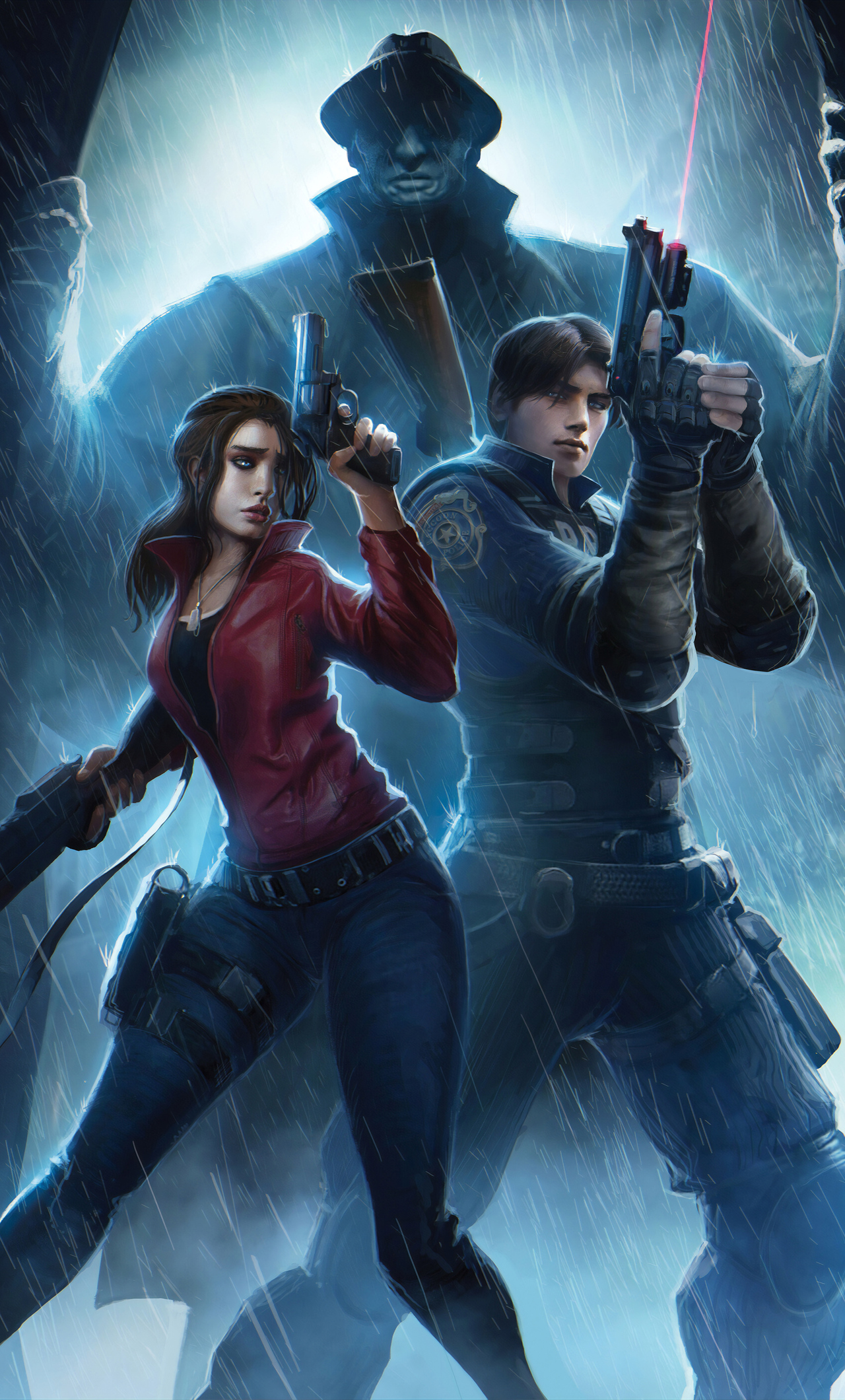 1280x2120 Claire Redfield And Leon Resident Evil 2 Art 4k Iphone 6