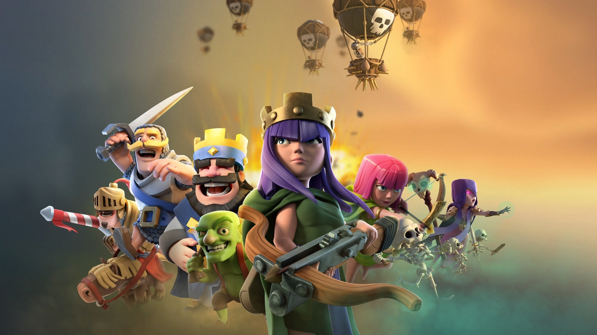 1920x1080 clash of clans clash royale supercell games laptop full hd 1080p hd 4k wallpapers - Clash royale 2560x1440 ...