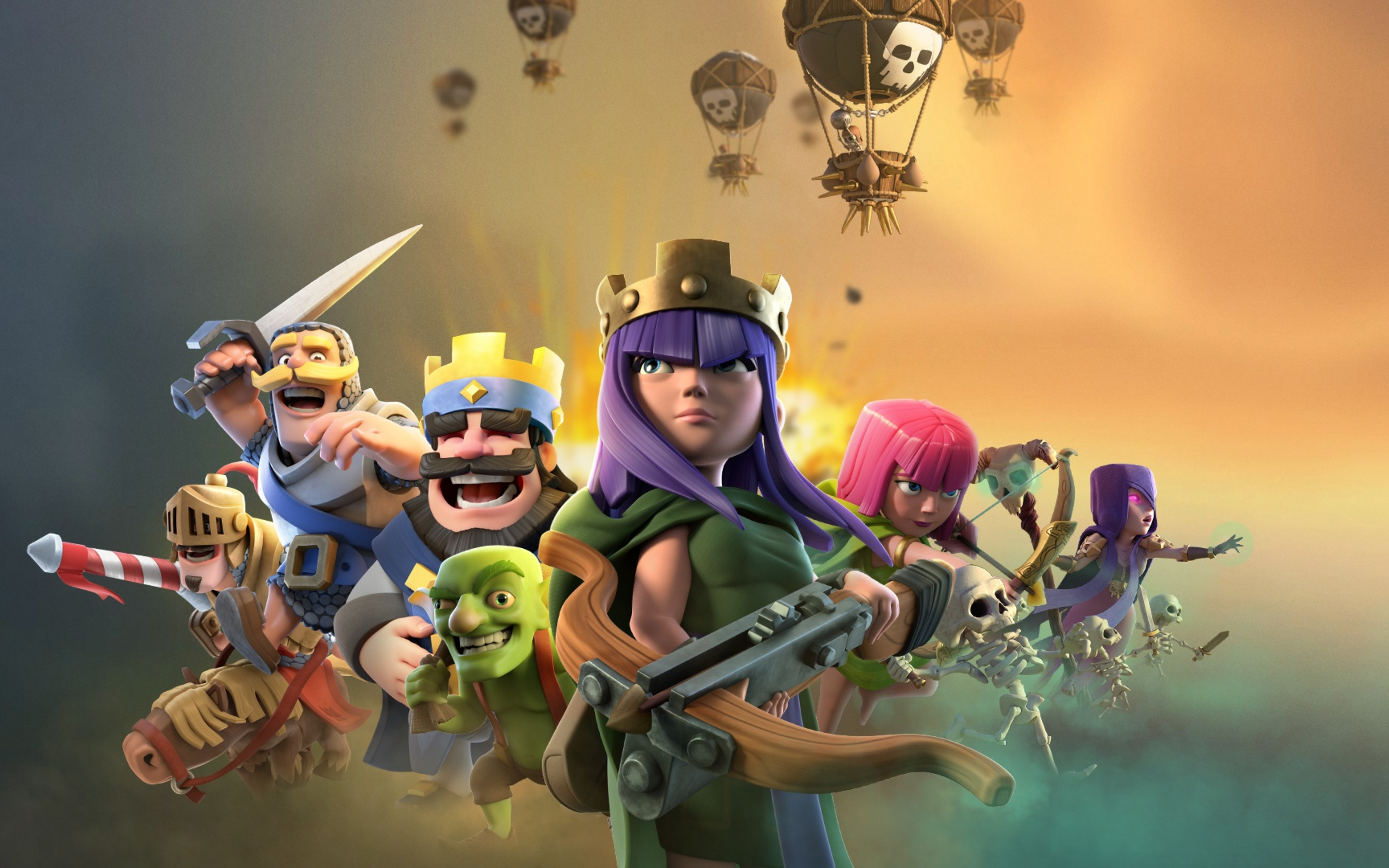 3840x2400 Clash Of Clans Clash Royale Supercell Games 4k ...
