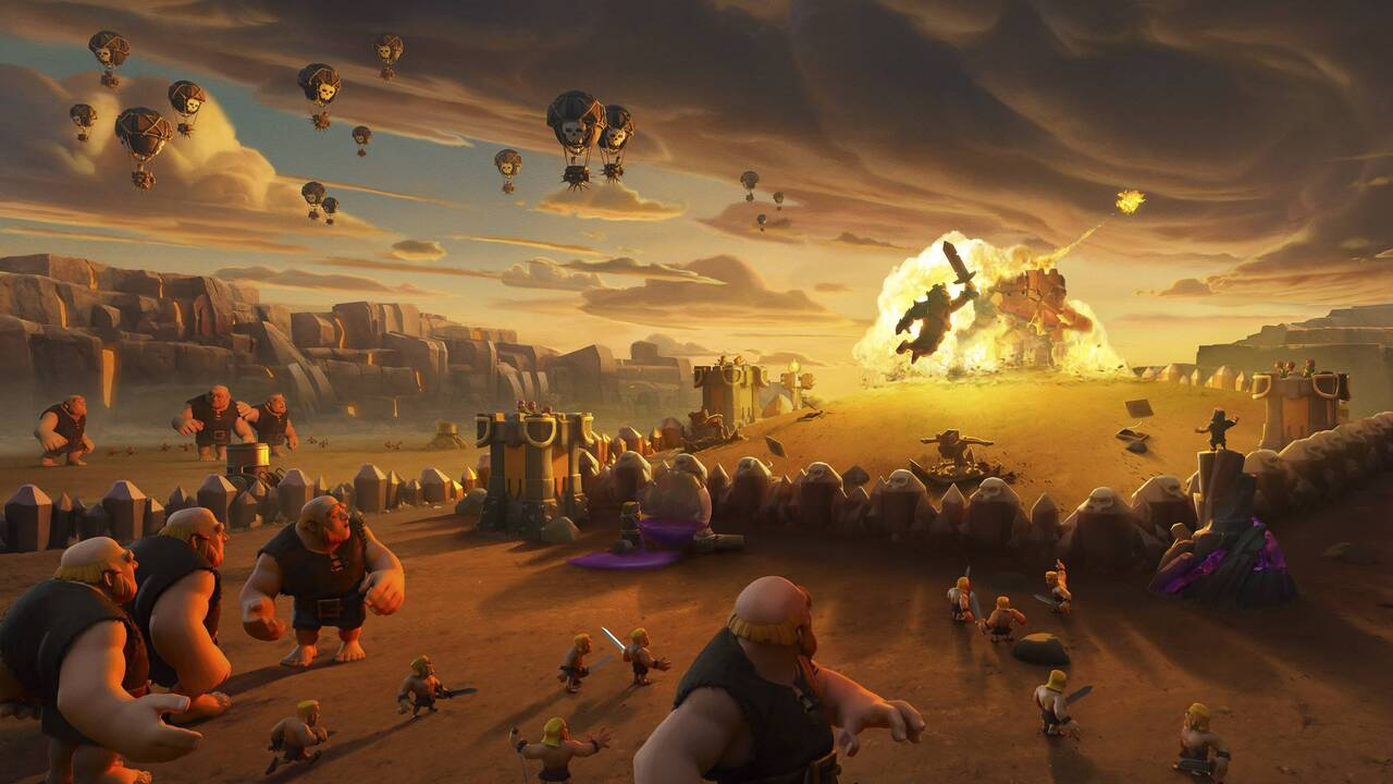 1280x720 Clash Of Clans Giants War 720p Hd 4k Wallpapers Images